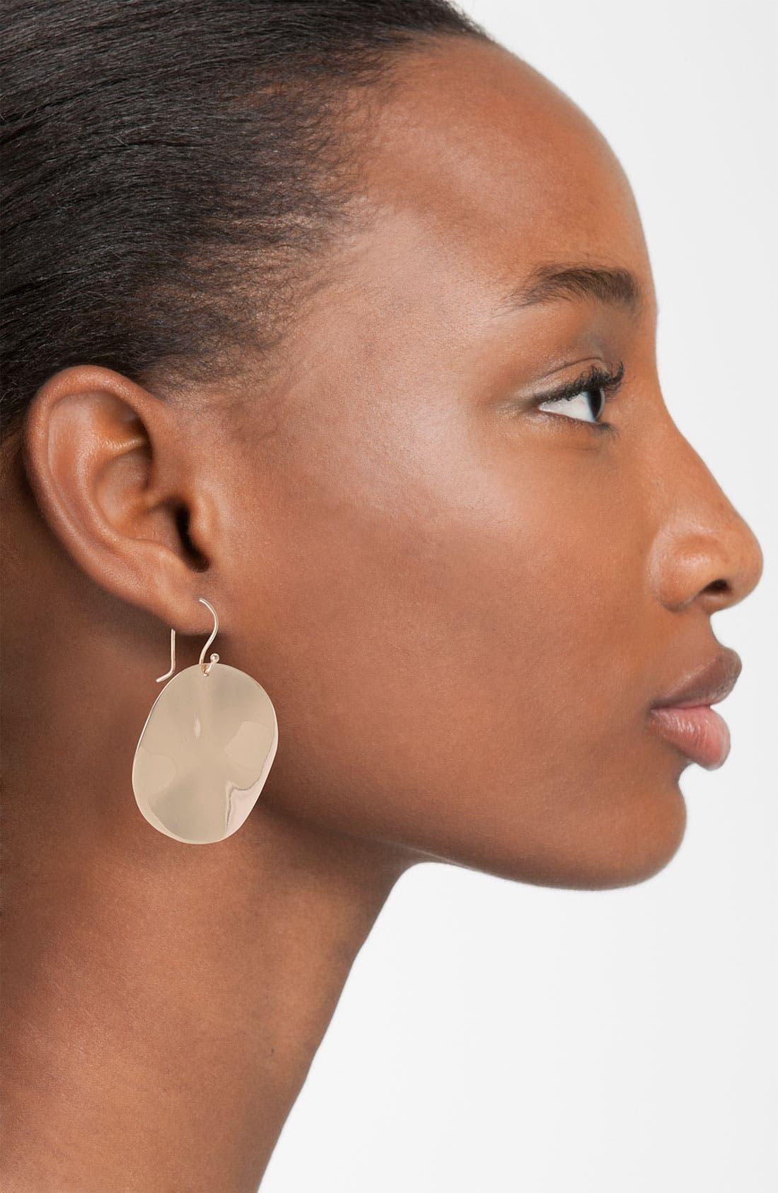 Alternate Image 2  - Ippolita Rosé Large Wavy Disc Earrings