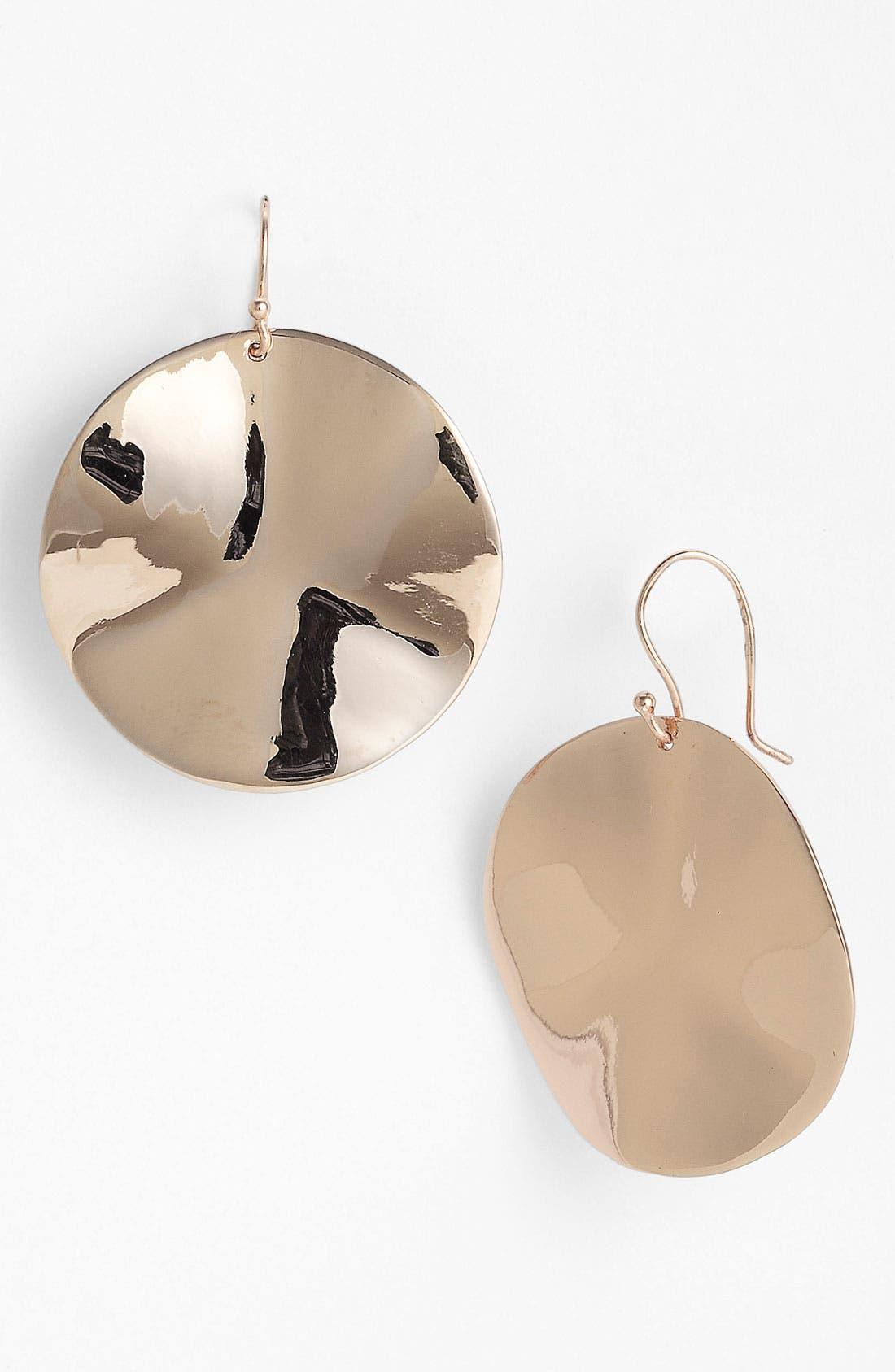 Alternate Image 1 Selected - Ippolita Rosé Large Wavy Disc Earrings