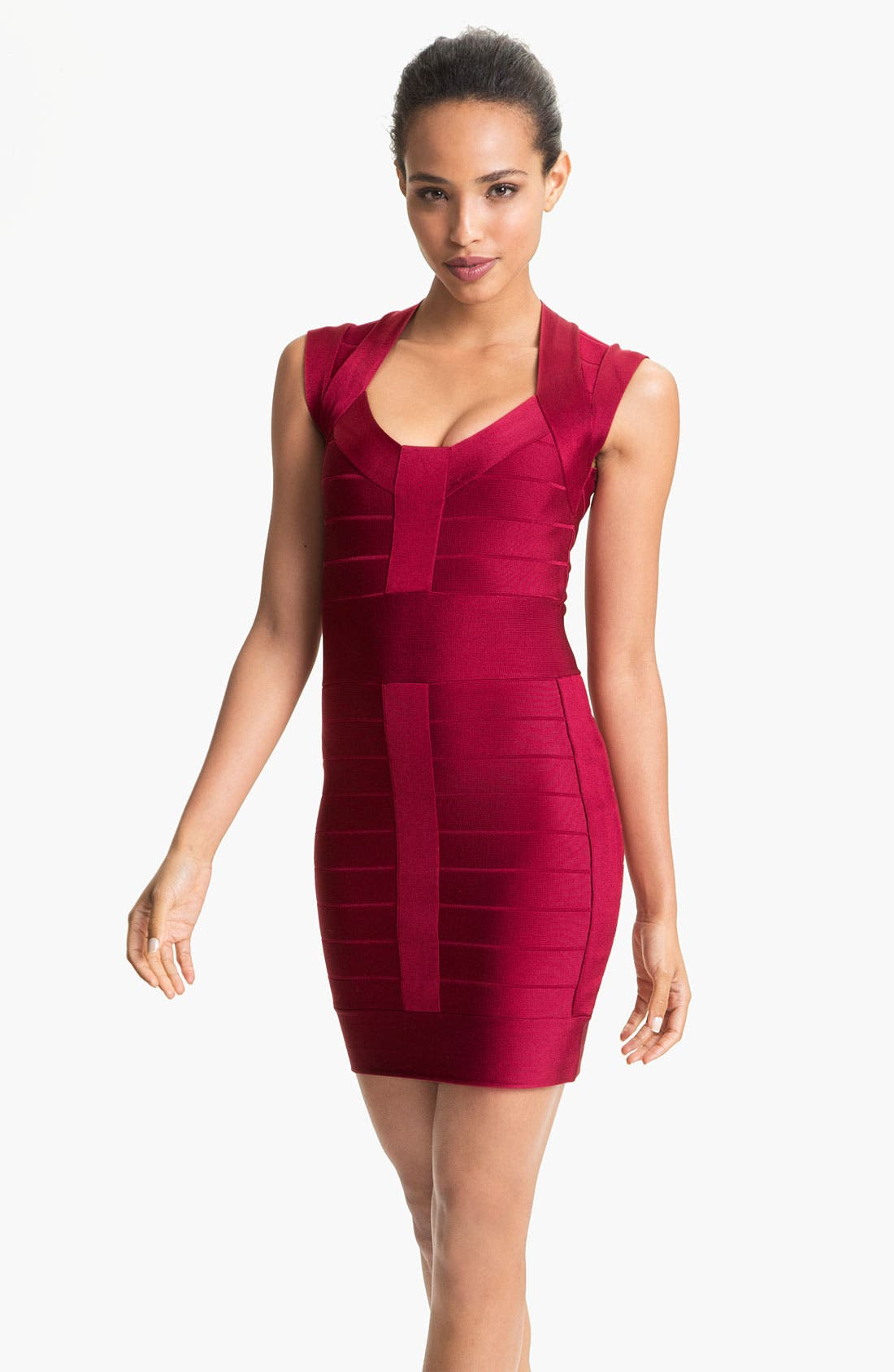 Main Image - French Connection Banded Cap Sleeve Minidress