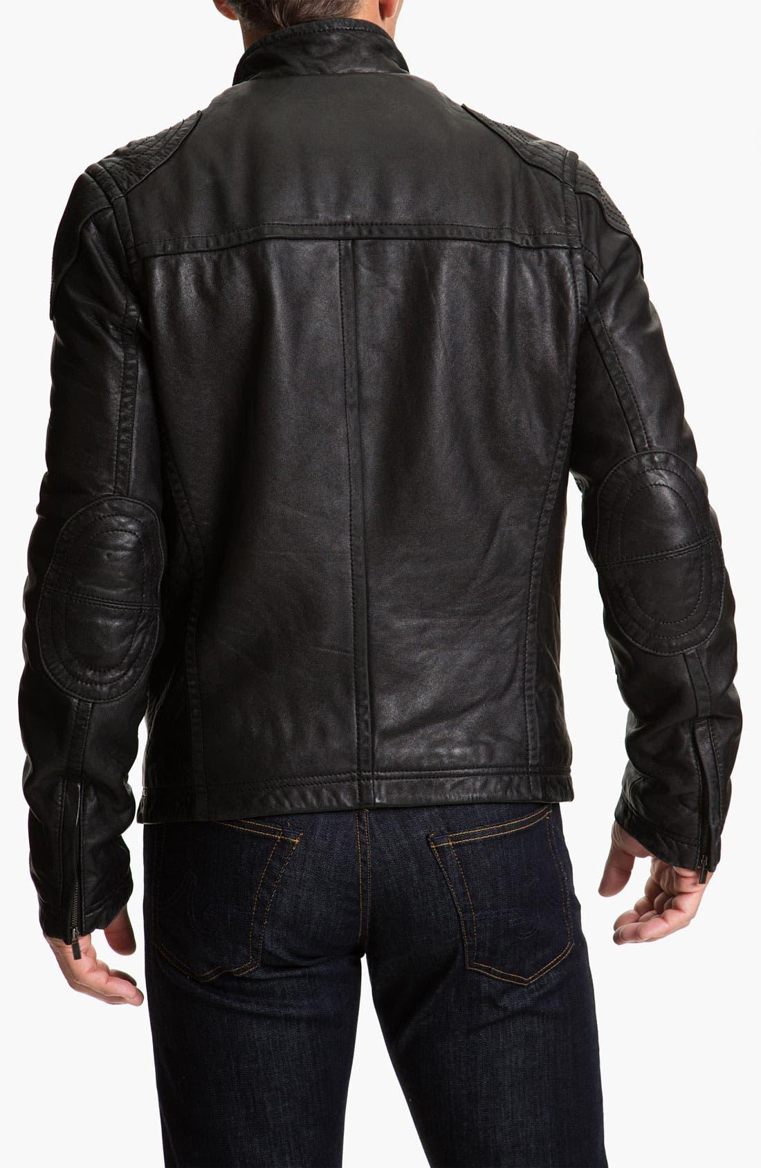 Alternate Image 2  - UGG® Australia 'Garrapata' Leather Jacket
