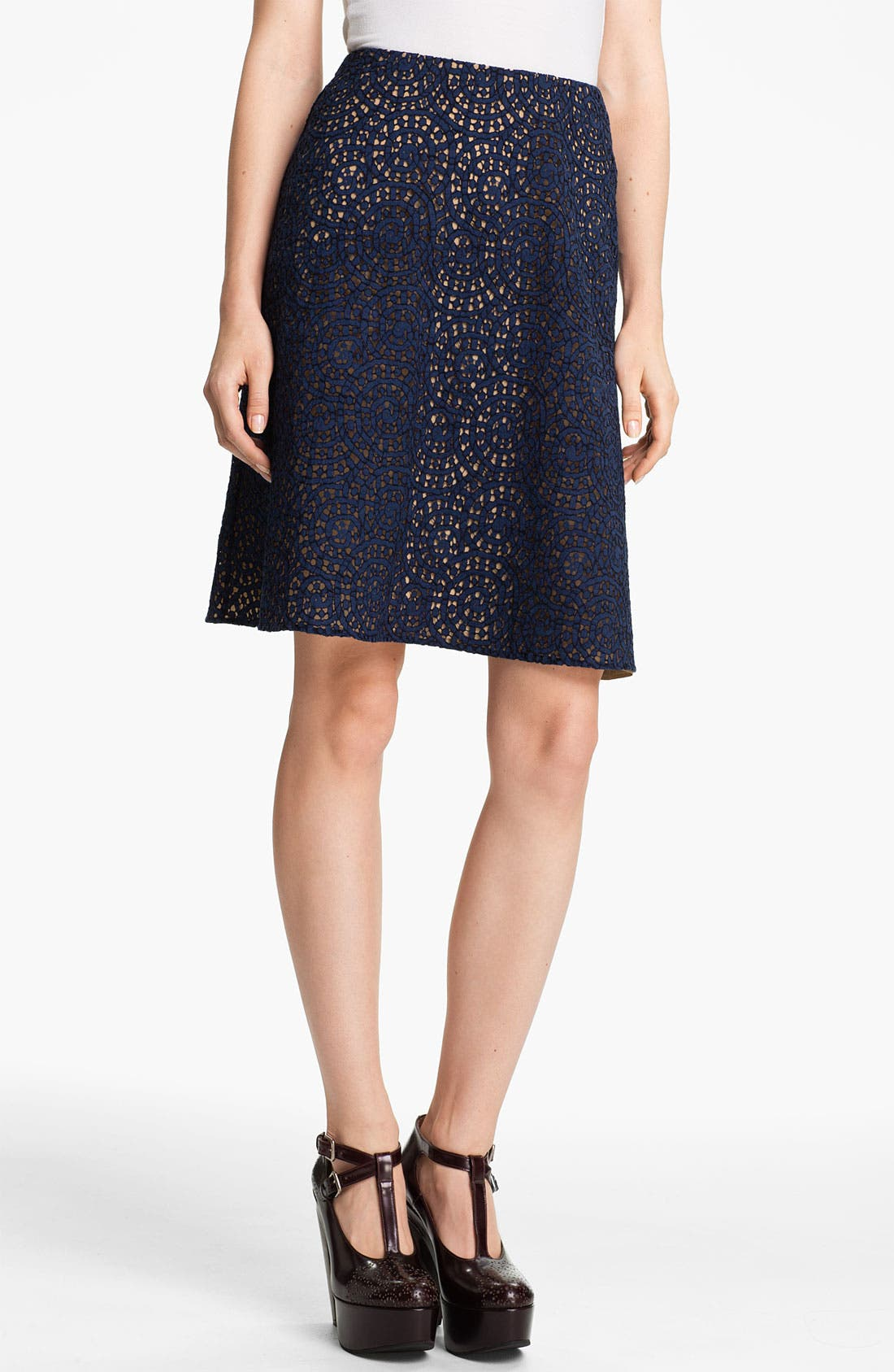 Main Image - Carven Lace A-Line Skirt