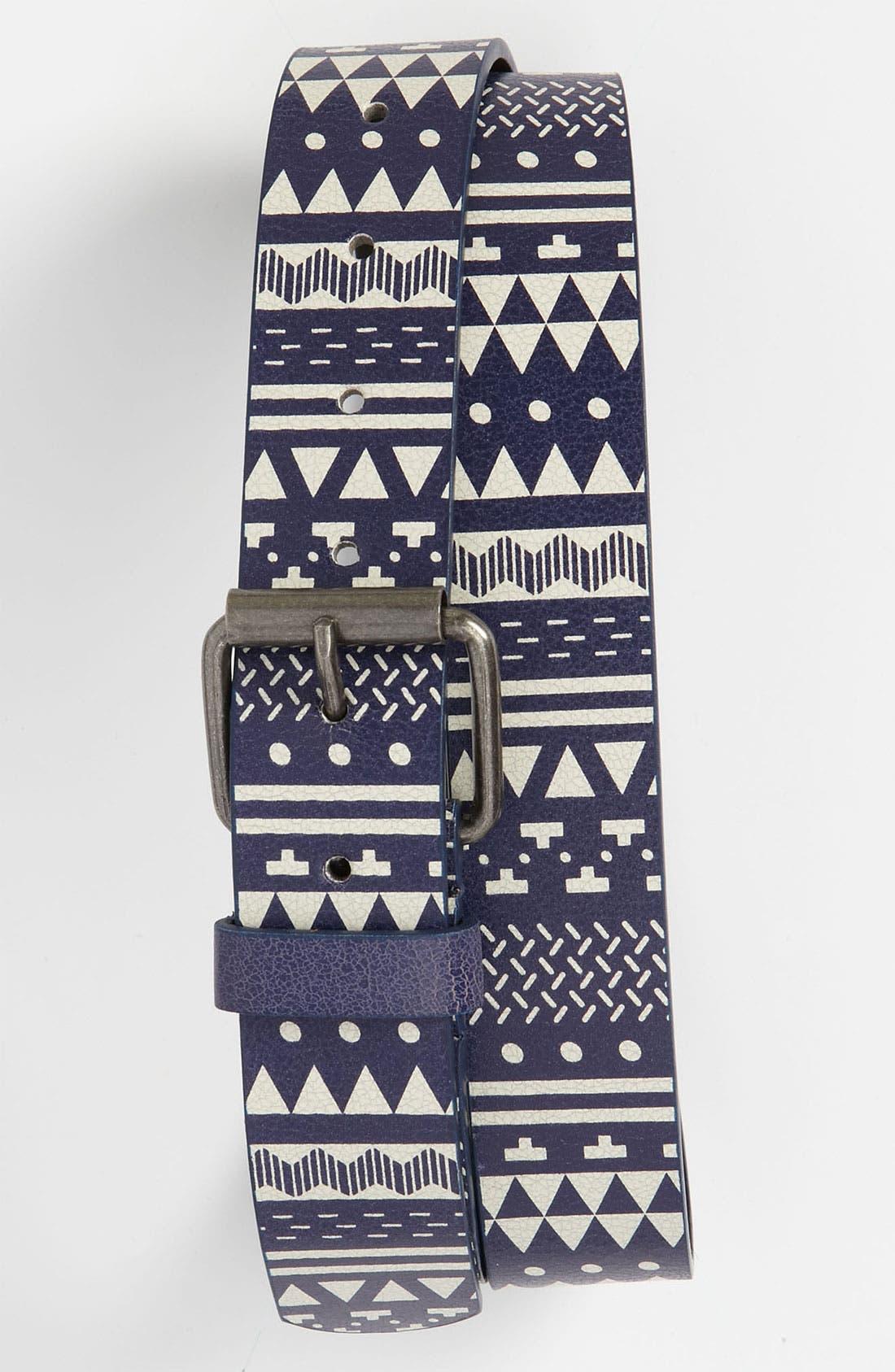 Main Image - Topman Pattern Faux Leather Belt