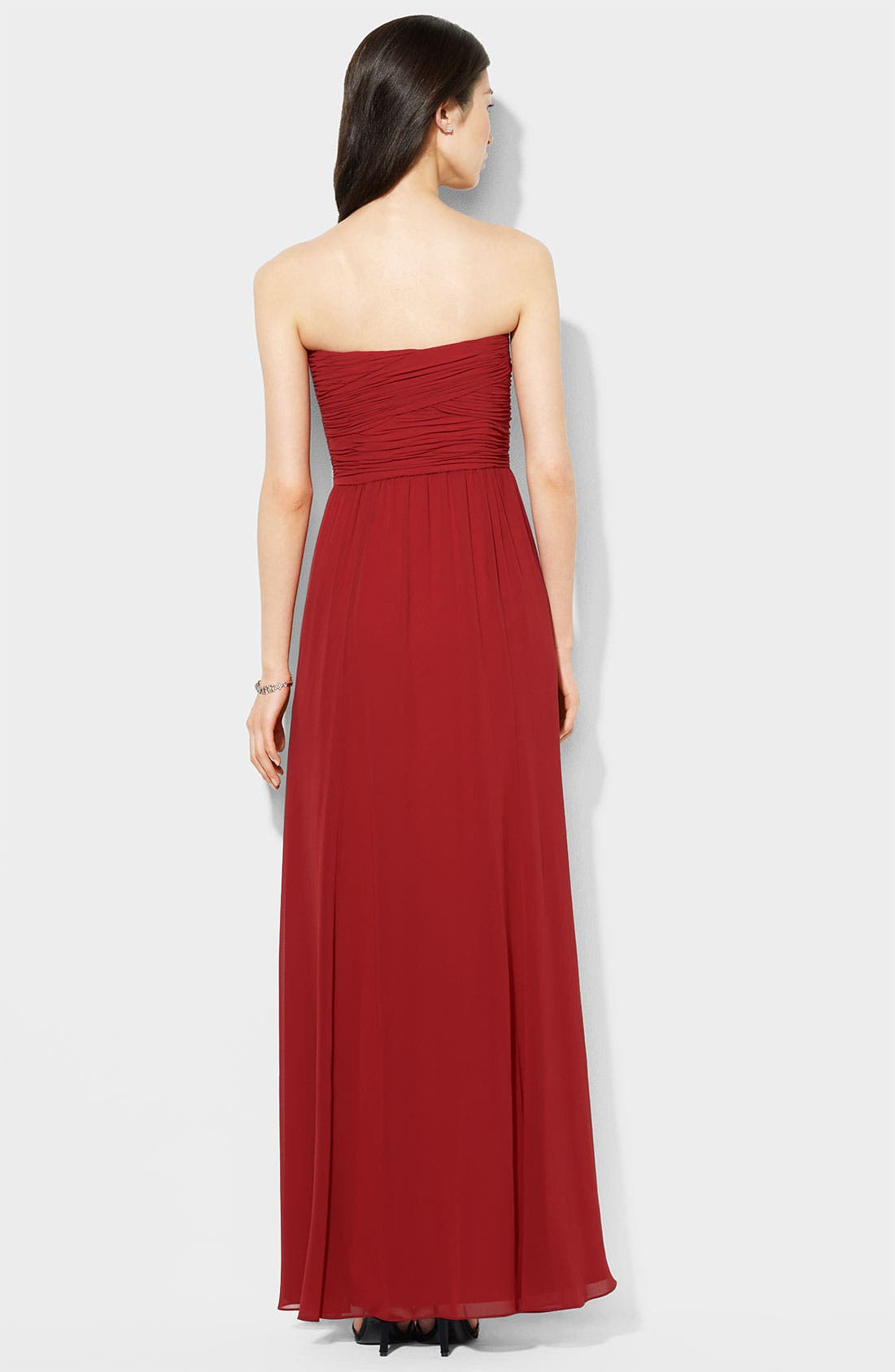Alternate Image 2  - Lauren Ralph Lauren Wrapped Bodice Sweetheart Gown