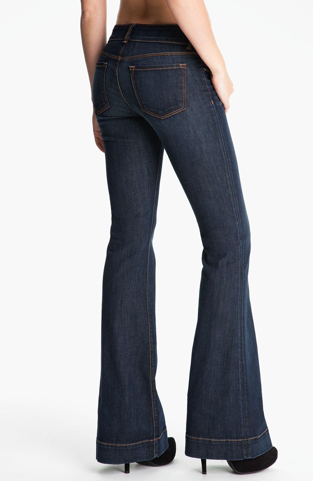 Alternate Image 2  - J Brand 'Love Story' Bellbottom Stretch Jeans