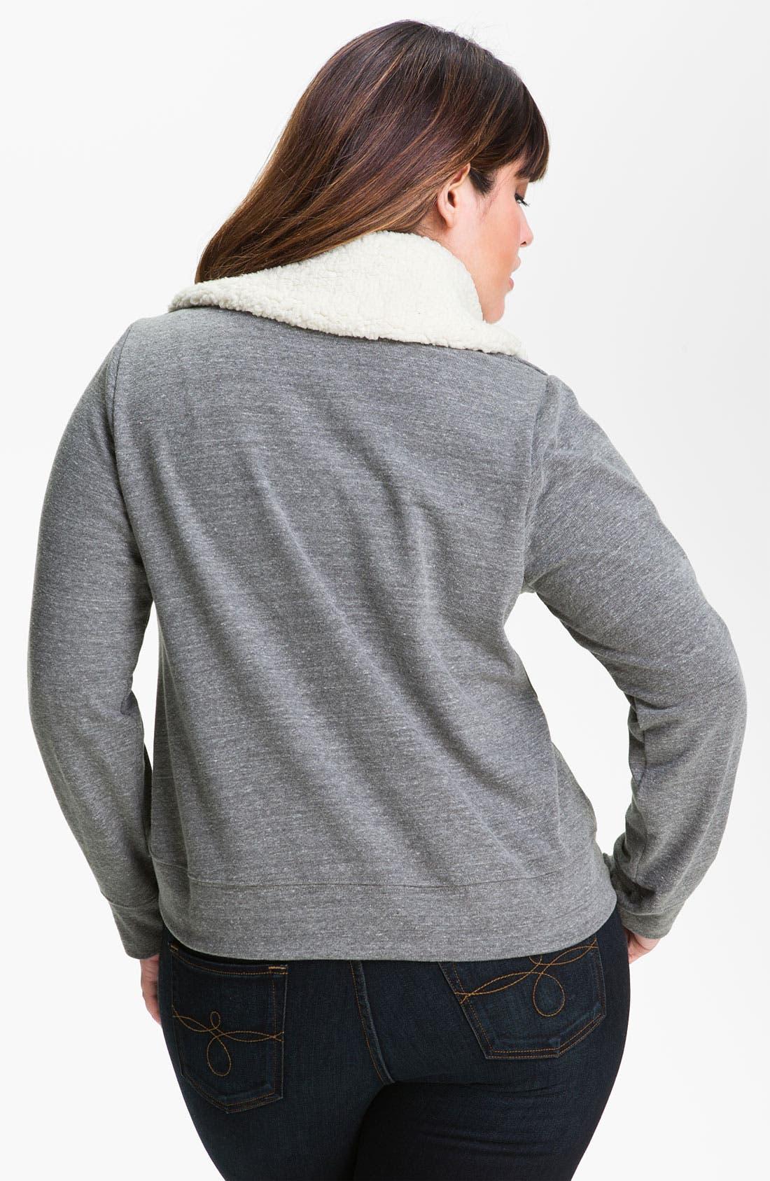 Alternate Image 2  - Splendid Lined Moto Jacket (Plus)