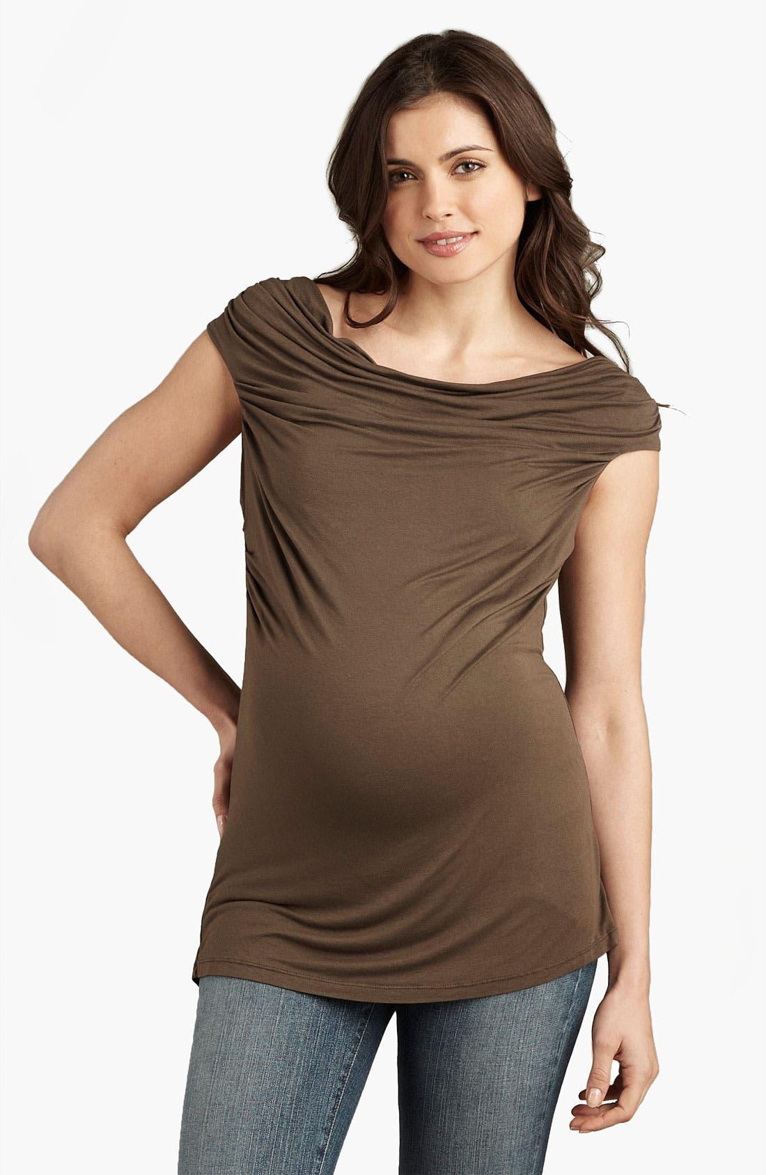 Main Image - Maternal America Draped Neck Maternity Top
