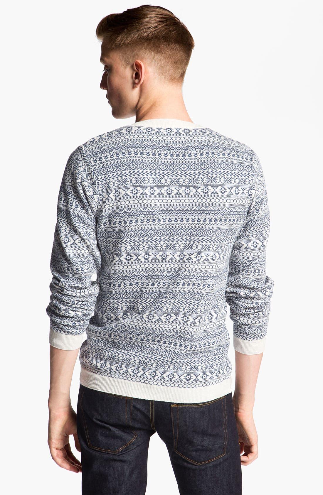 Alternate Image 2  - Topman Geometric Pattern Knit Sweater