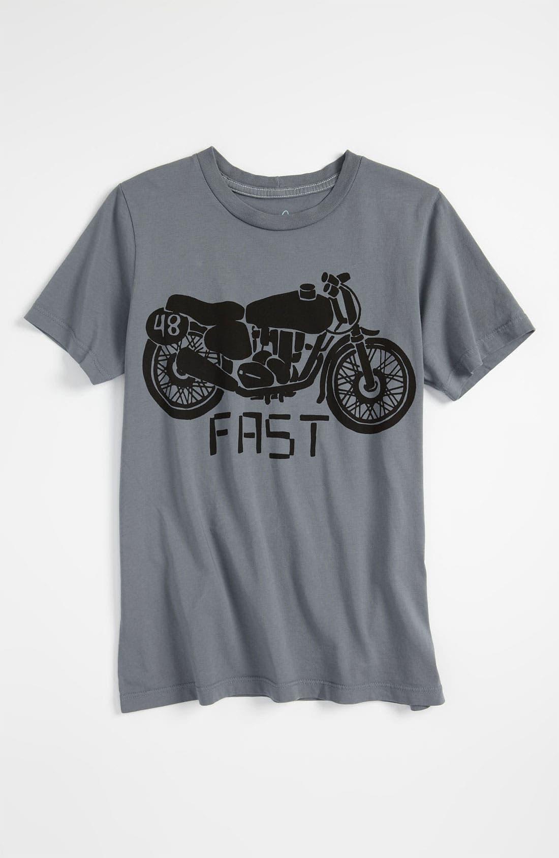 Alternate Image 1 Selected - Peek 'Motorcycle' T-Shirt (Toddler, Little Boys & Big Boys)