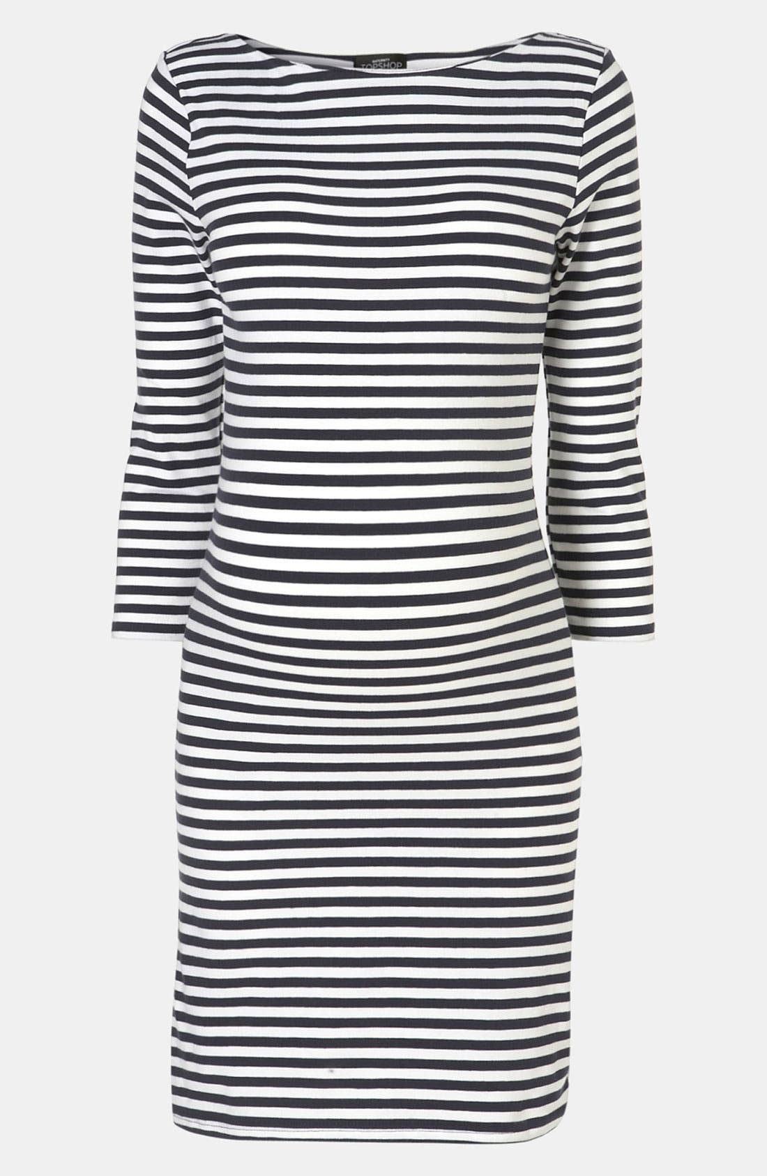 Alternate Image 3  - Topshop Stripe Maternity Dress