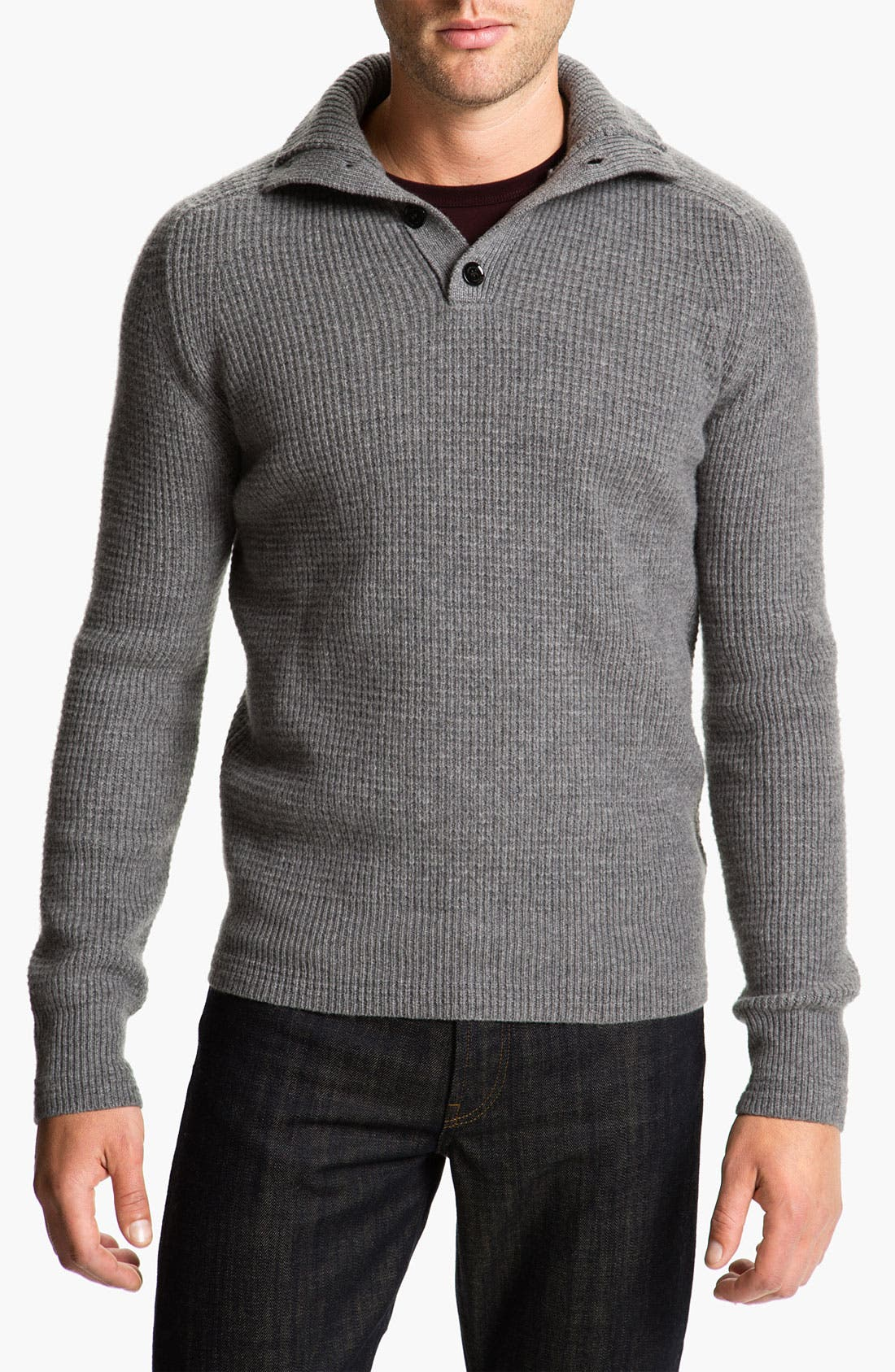 Alternate Image 1 Selected - Burberry Brit Thermal Henley Sweater