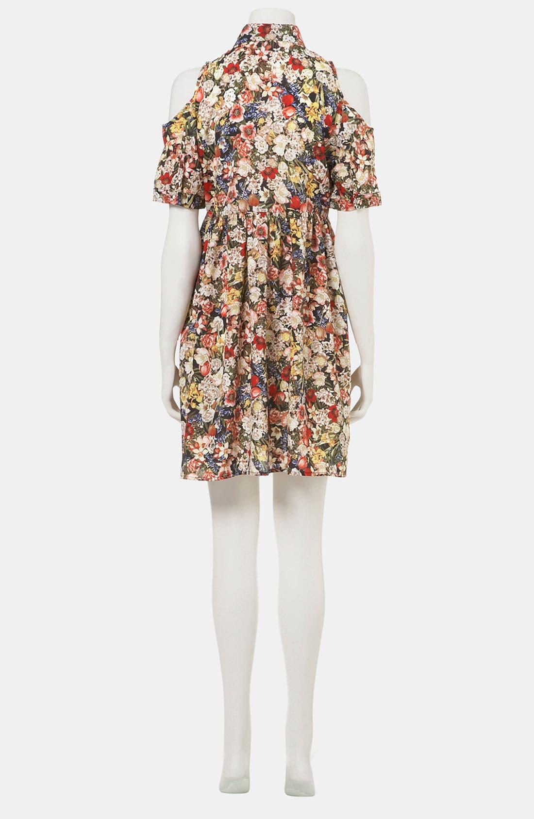 Alternate Image 3  - Topshop Floral Cutout Maternity Shirtdress