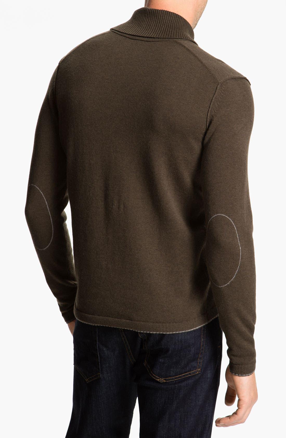 Alternate Image 2  - BOSS Black 'Palas' Regular Fit Shawl Collar Cotton & Cashmere Sweater