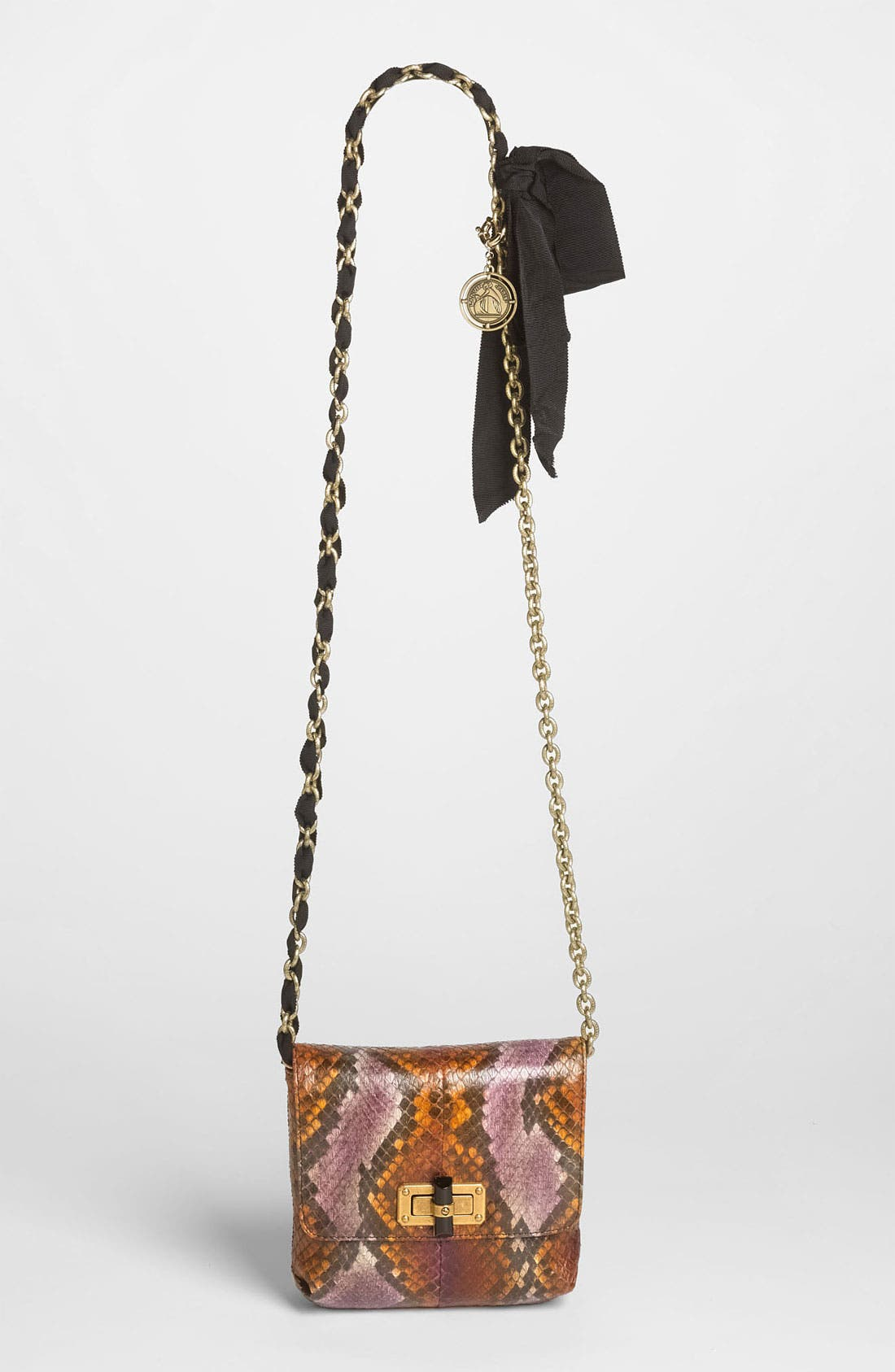 Main Image - Lanvin 'Pop Happy - Mini' Genuine Python Crossbody Bag