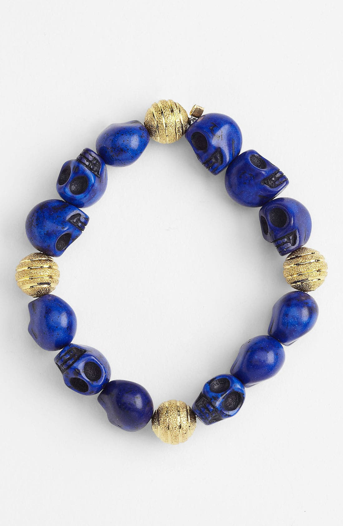 Alternate Image 1 Selected - Haute Betts 'Misfit Skull' Stretch Bracelet