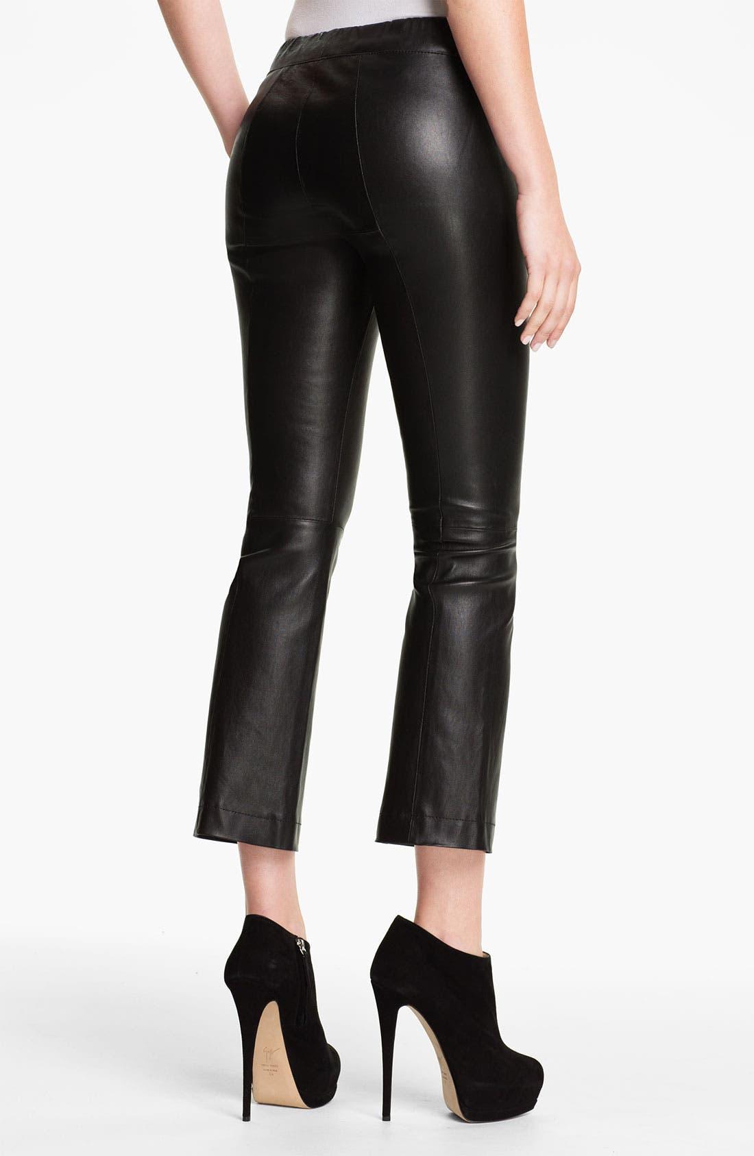 Alternate Image 2  - Elizabeth and James 'Allen' Crop Bootcut Leather Pants