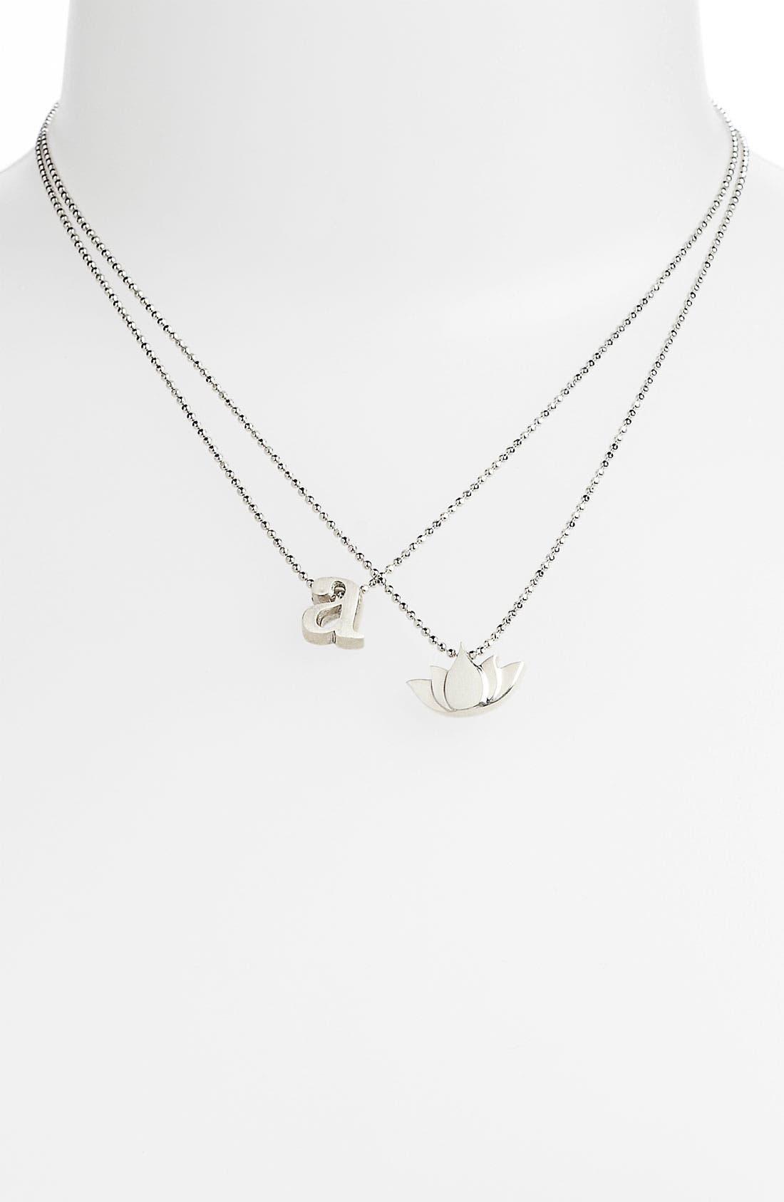 Alternate Image 2  - Alex Woo 'Little Faith' Lotus Blossom Pendant Necklace
