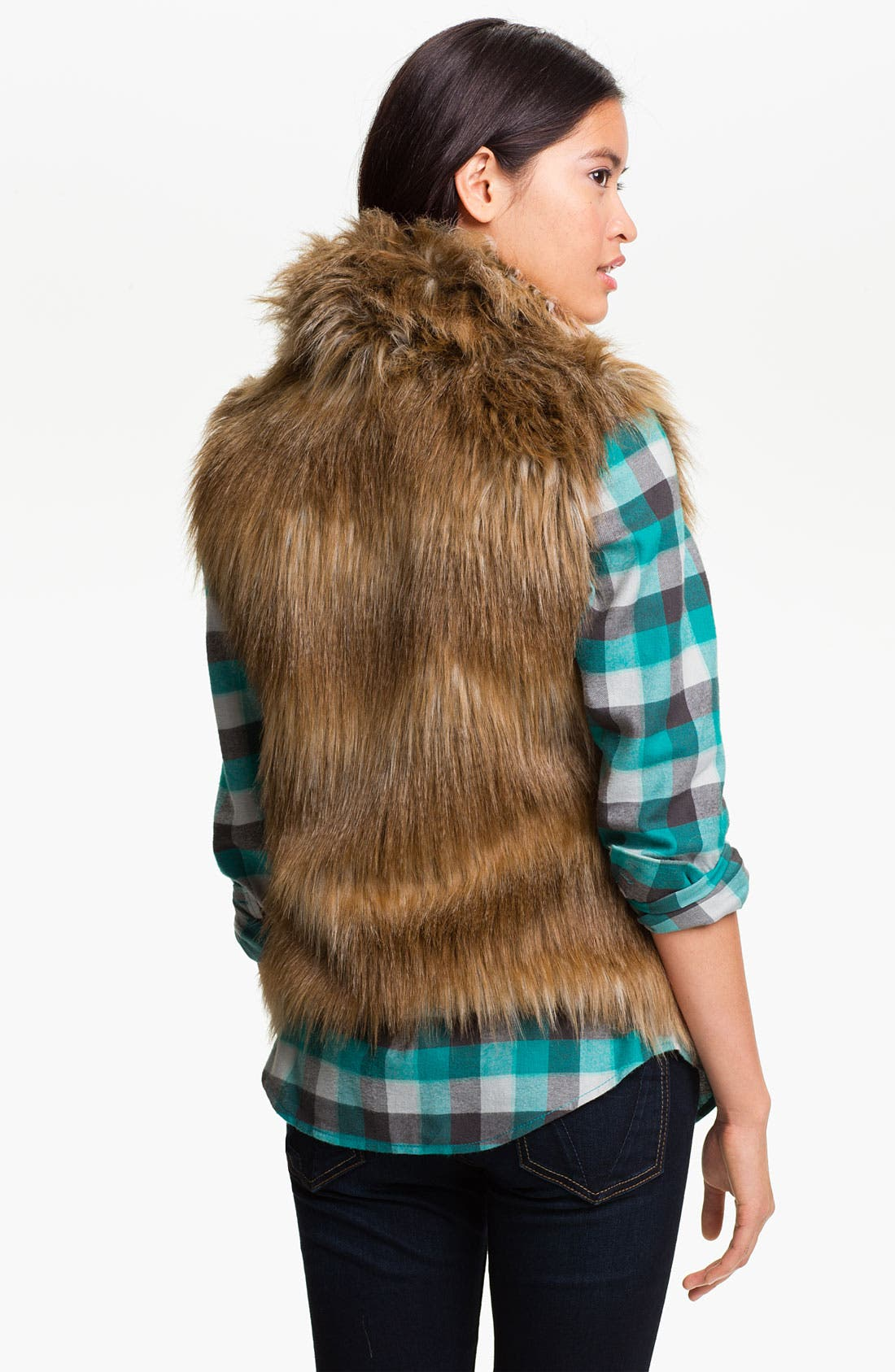 Alternate Image 2  - Jack Faux Fur Vest (Juniors)