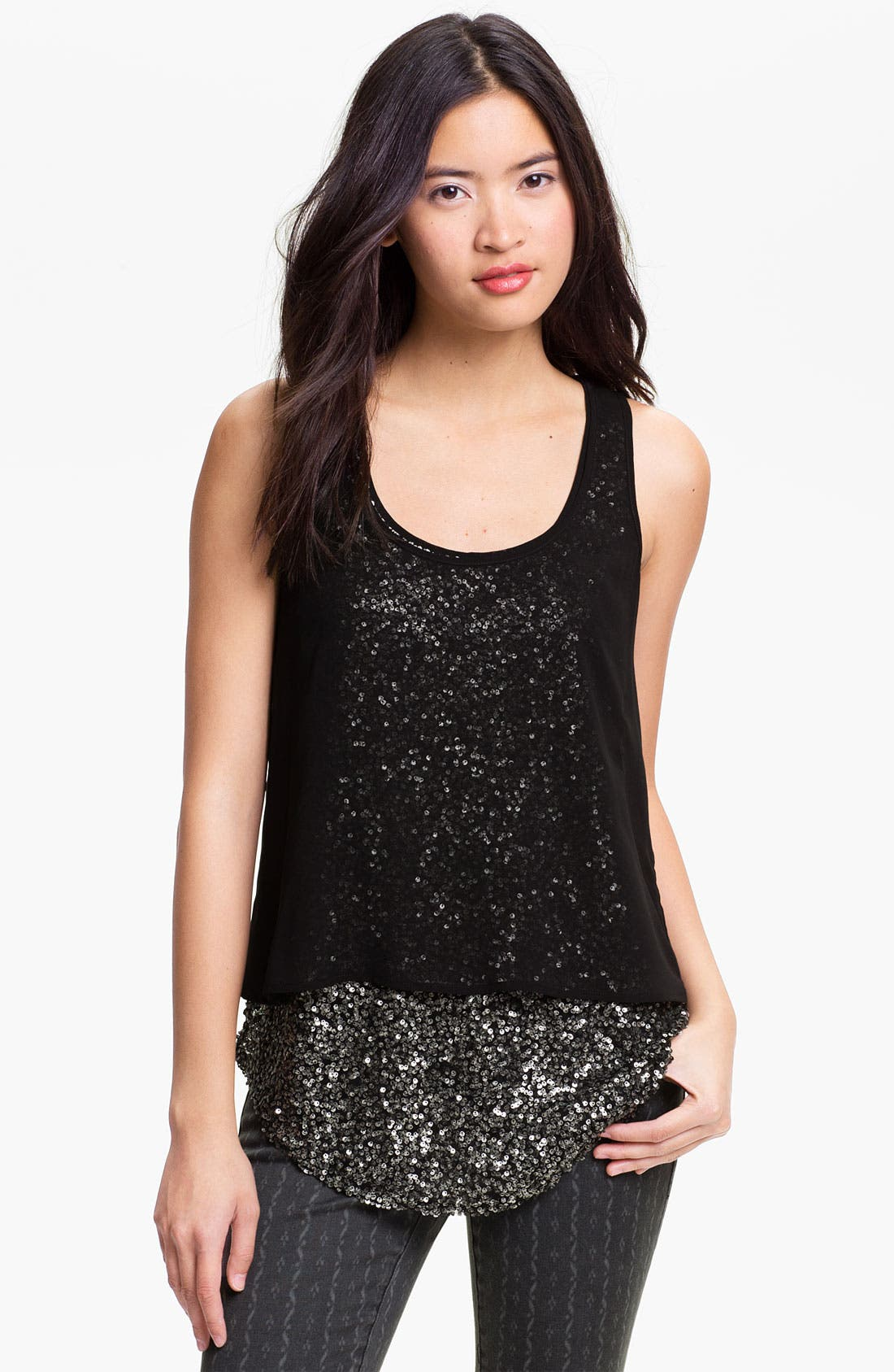 Alternate Image 1 Selected - Lush Layered Sequin Tank