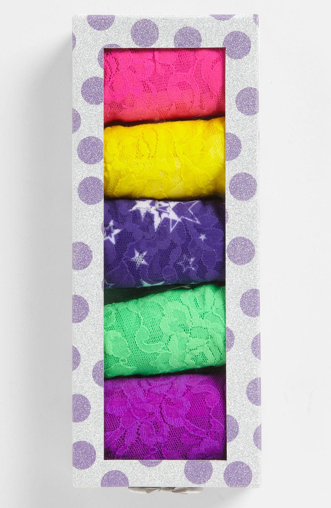 Main Image - Hanky Panky Signature Lace Regular Rise Thong (5-Pack) ($103 Value)