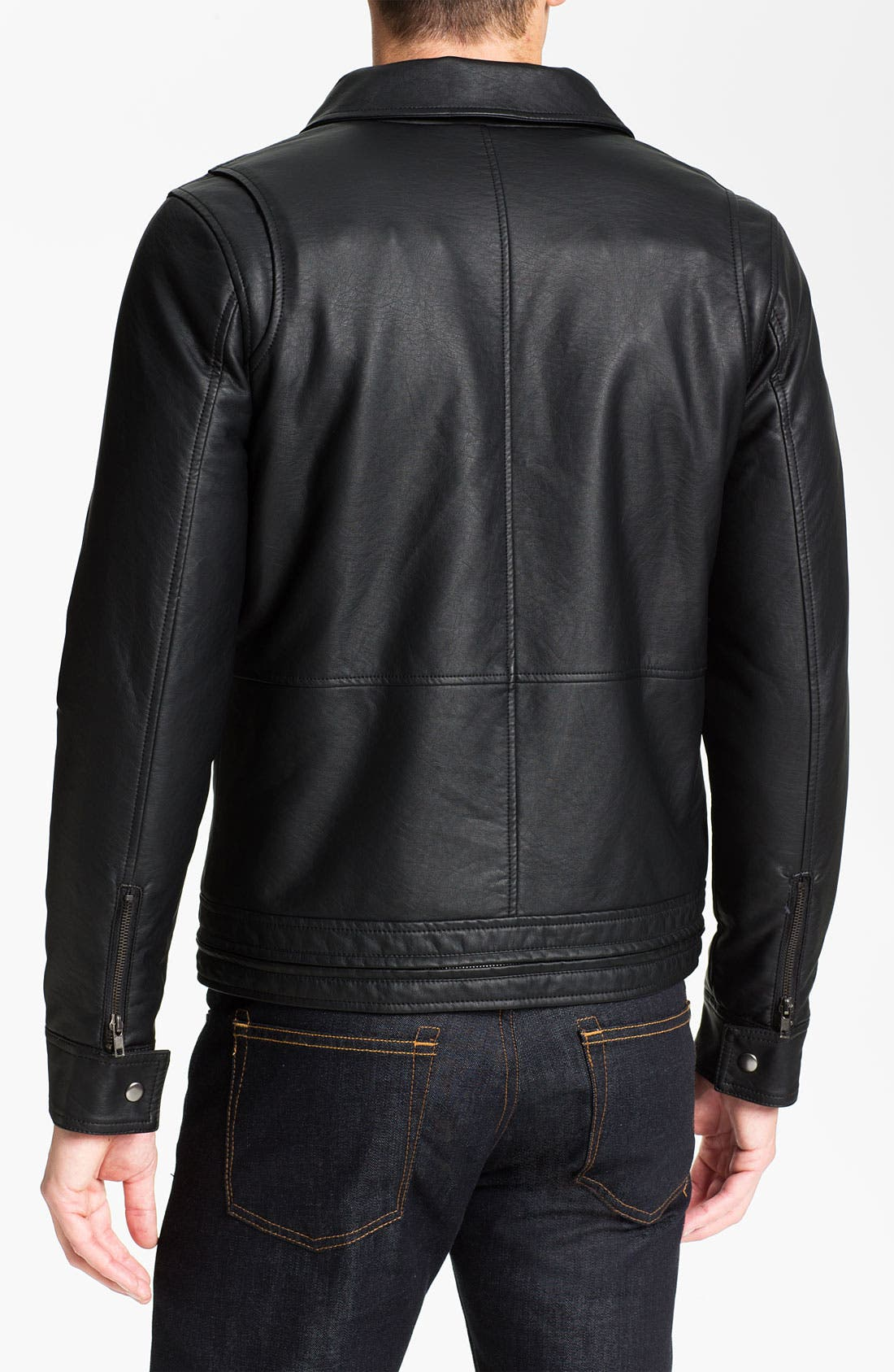 Alternate Image 2  - Obey 'Dirty' Faux Leather Jacket