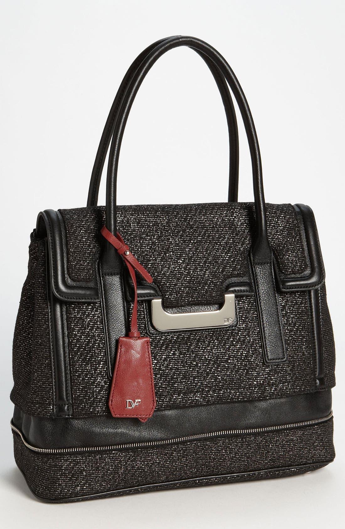 Alternate Image 1 Selected - Diane von Furstenberg 'New Harper - Laurel' Tweed Shoulder Bag