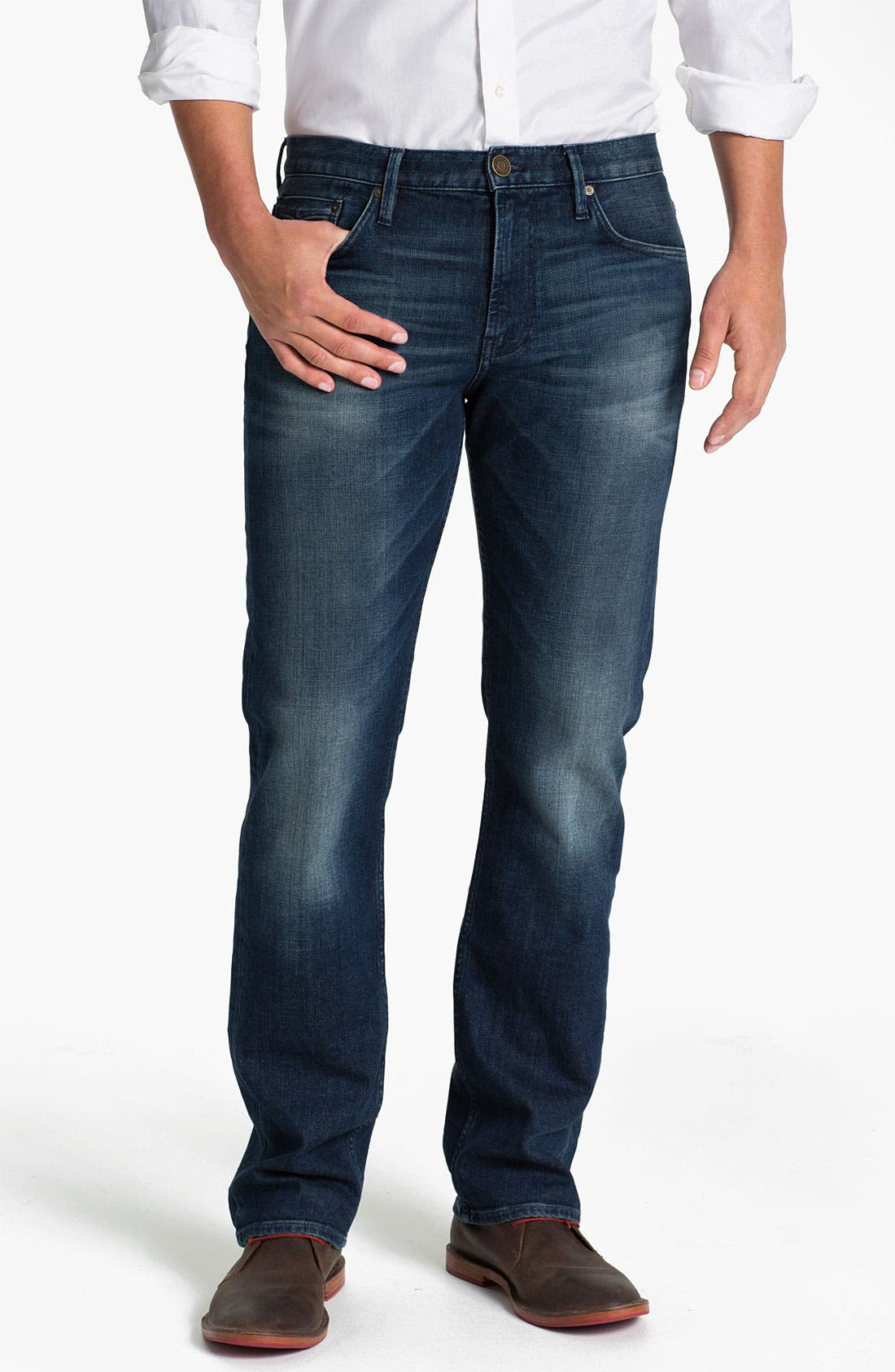 Alternate Image 1 Selected - Burberry Brit 'Cavendish' Straight Leg Jeans (Denim Blue)