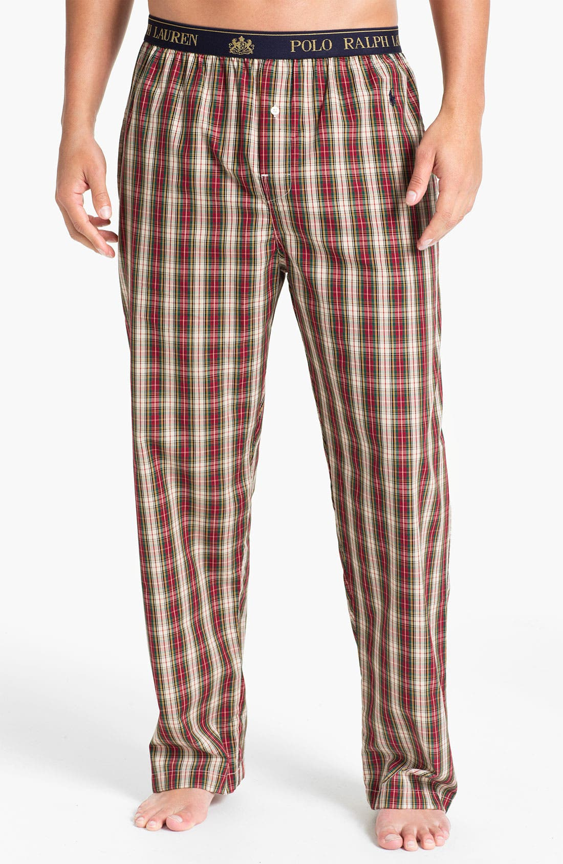 Alternate Image 1 Selected - Polo Ralph Lauren Plaid Lounge Pants