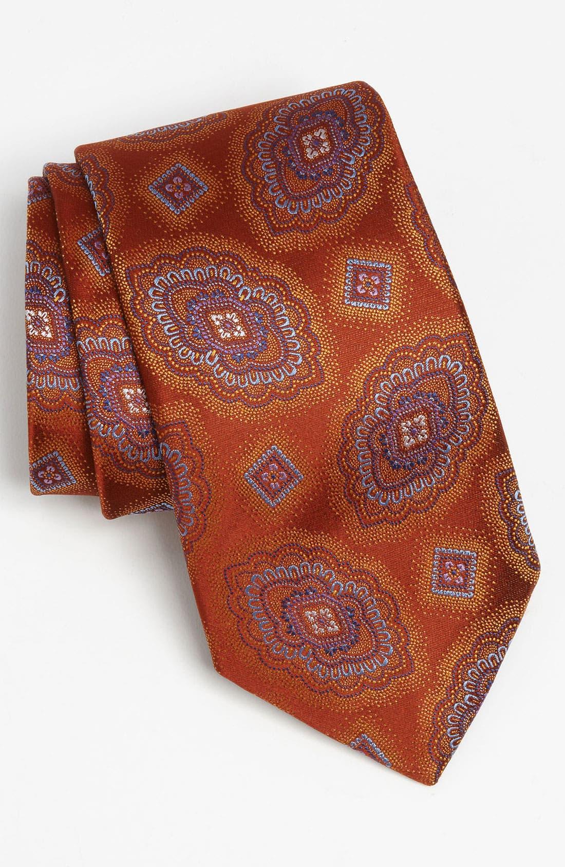 Main Image - David Donahue Woven Silk Tie
