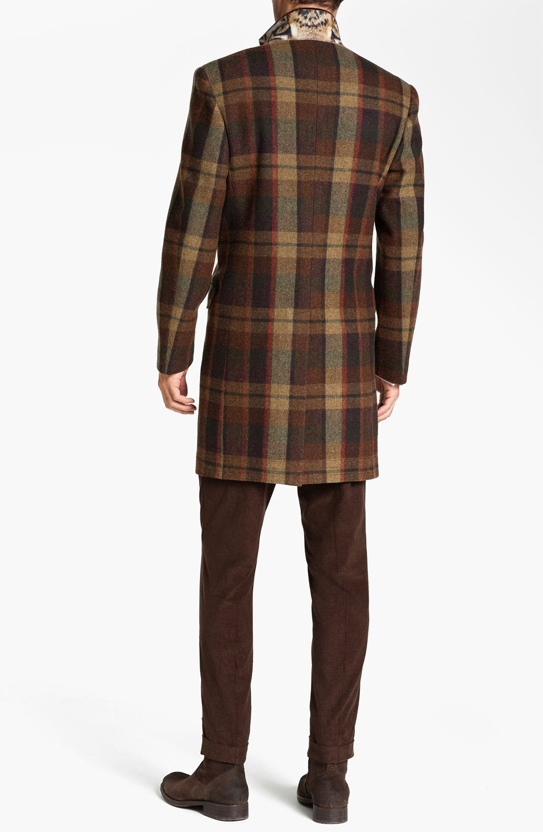 Alternate Image 2  - Ted Baker London 'Global' Trim Fit Plaid Top Coat (Online Exclusive)