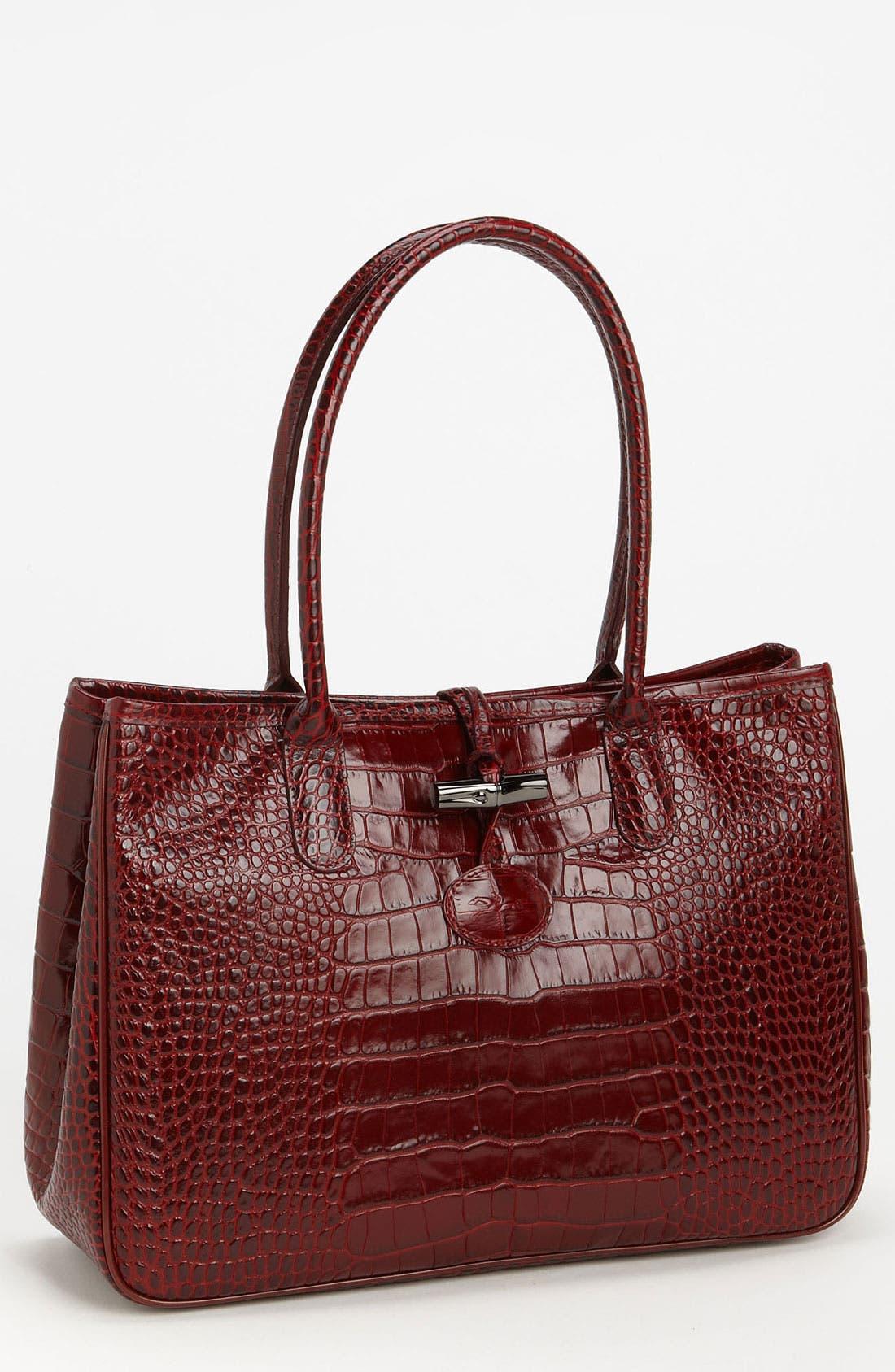 Main Image - Longchamp 'Roseau Croco' Shoulder Tote