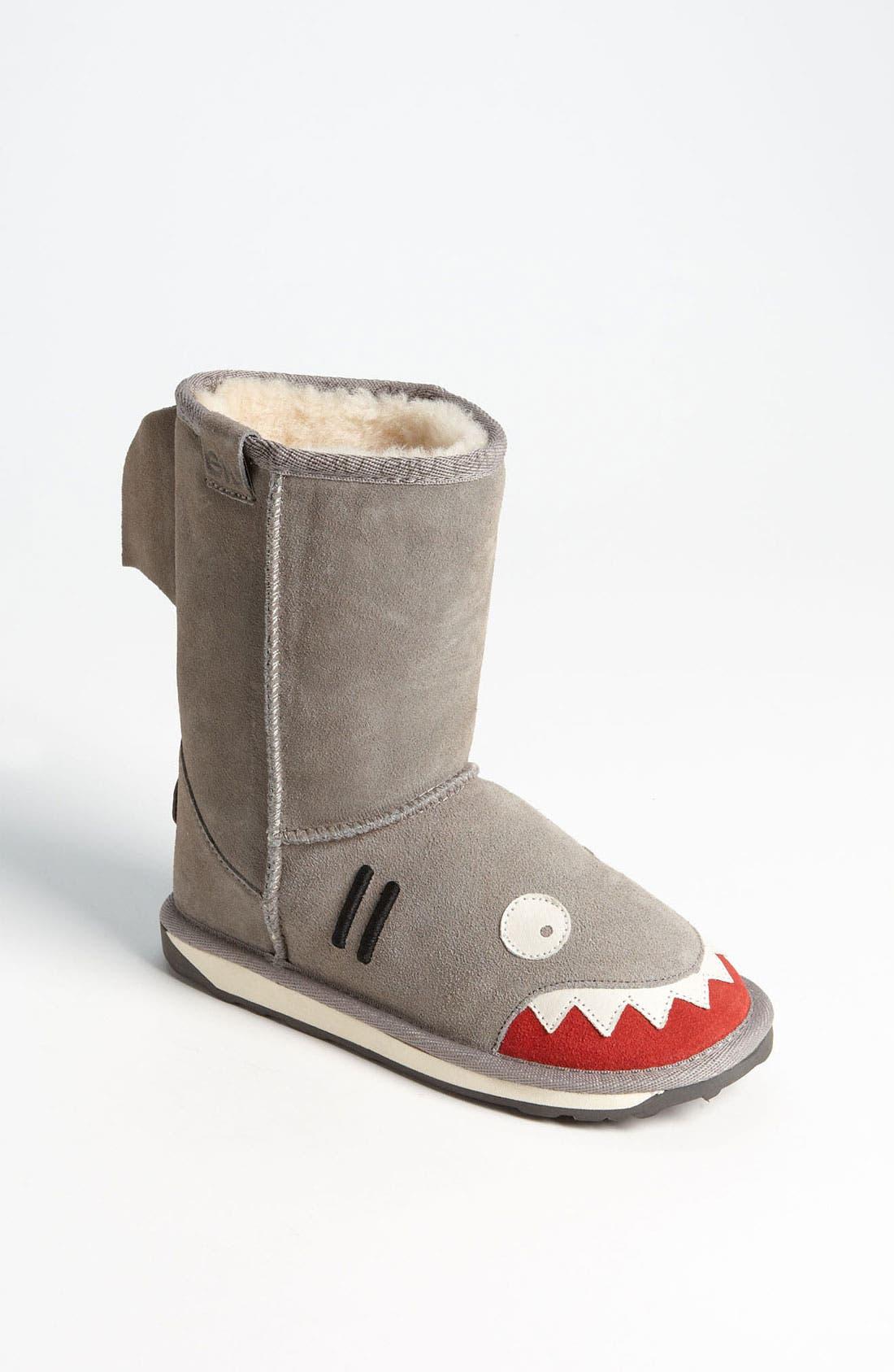 Alternate Image 1 Selected - EMU Australia 'Little Creatures - Shark' Boot (Toddler, Little Kid & Big Kid)
