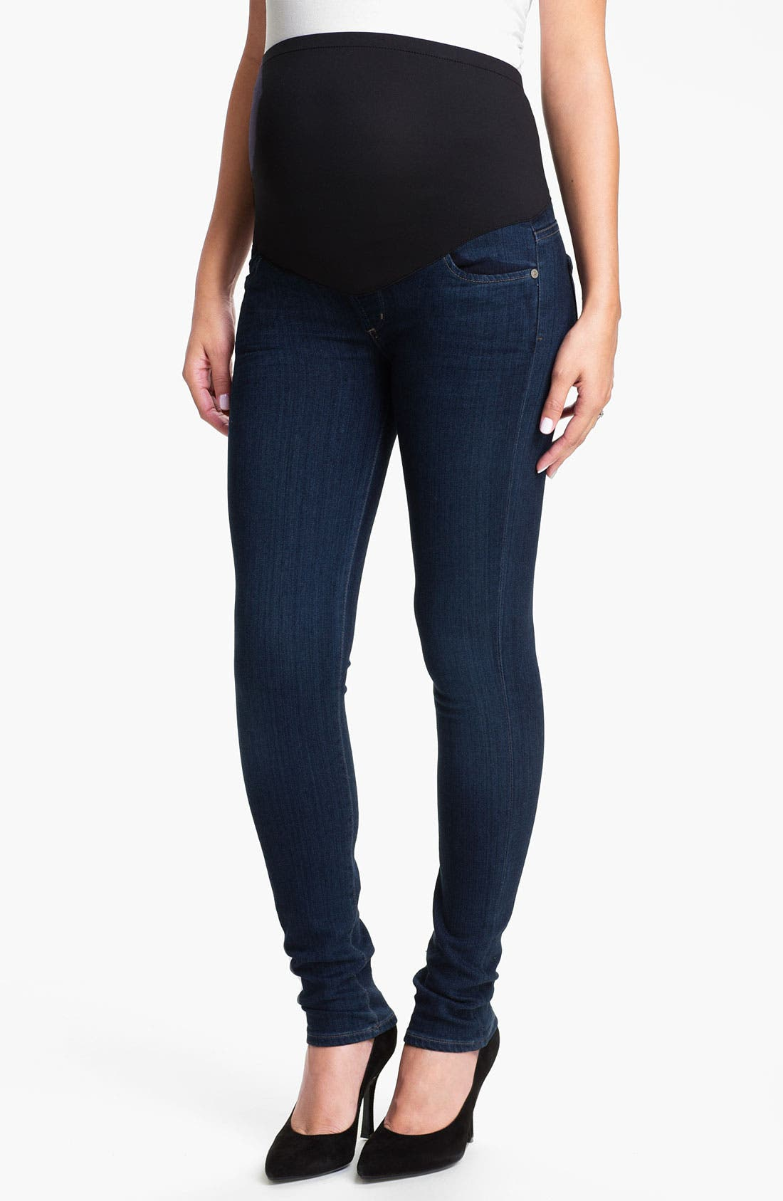 Alternate Image 1 Selected - Citizens of Humanity Skinny Maternity Jeans (Royal)