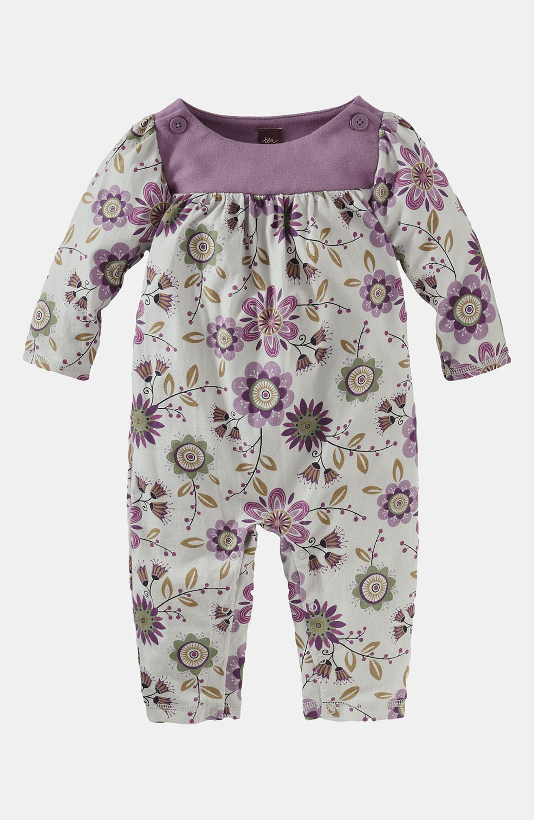 Main Image - Tea Collection 'Flora Fest' Coveralls (Infant)