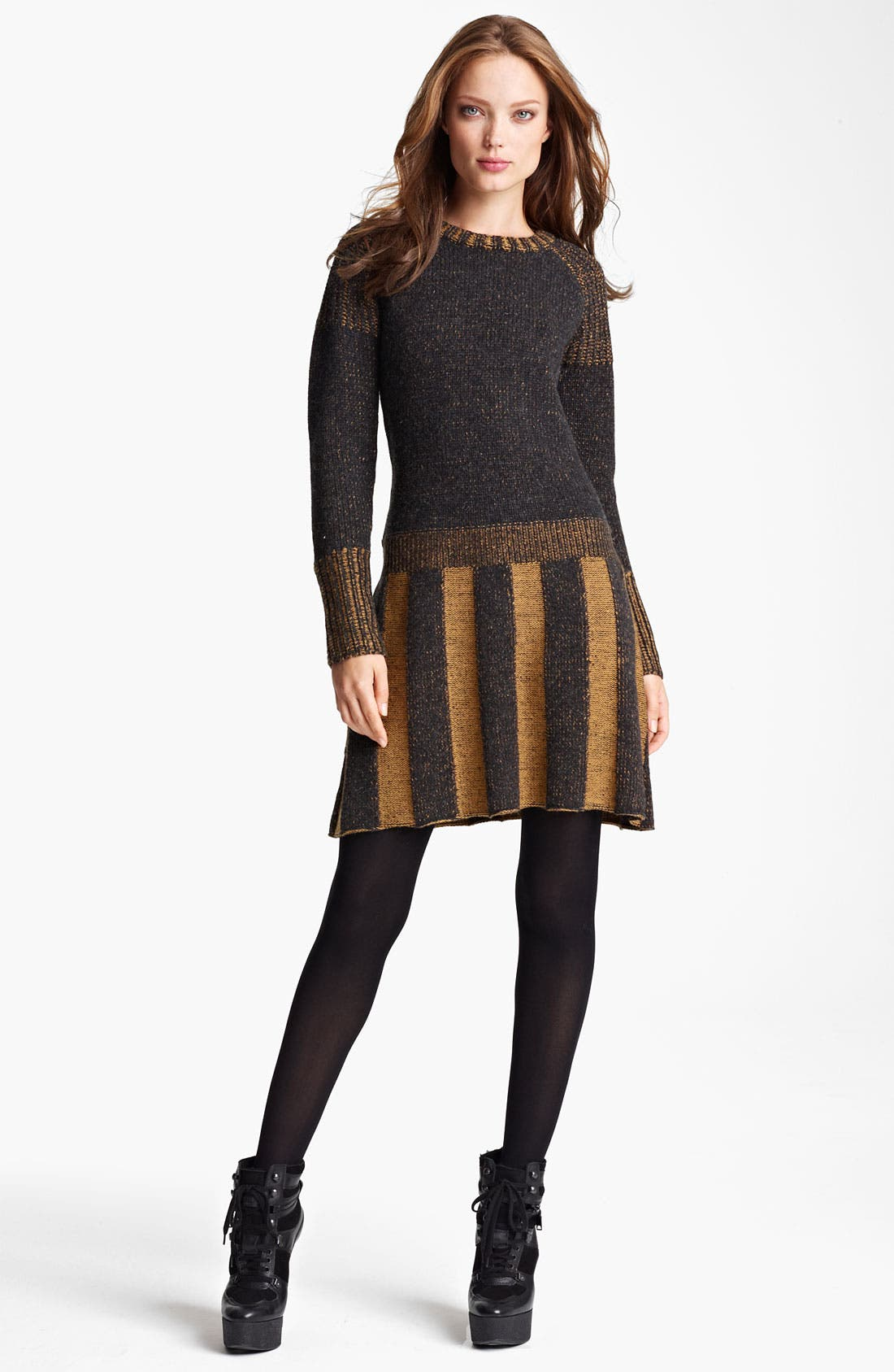 Main Image - Burberry Brit Drop Waist Sweater Dress