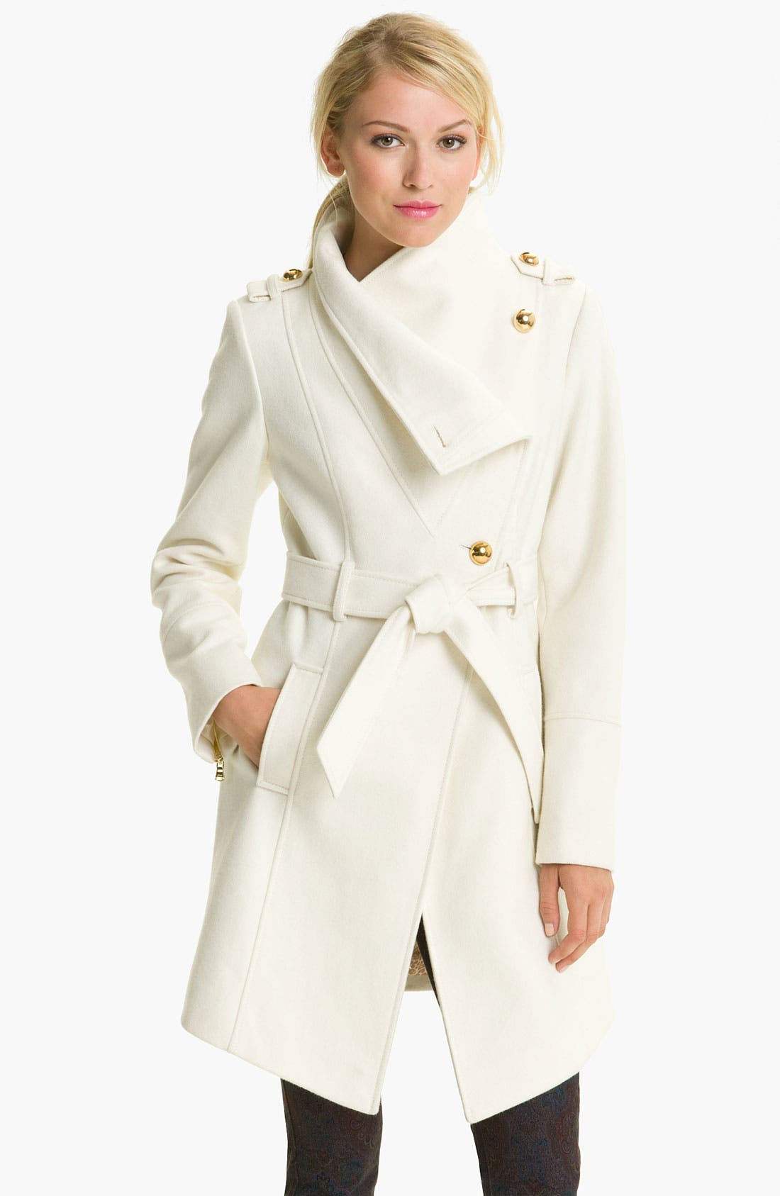 Main Image - GUESS Belted Asymmetrical Coat