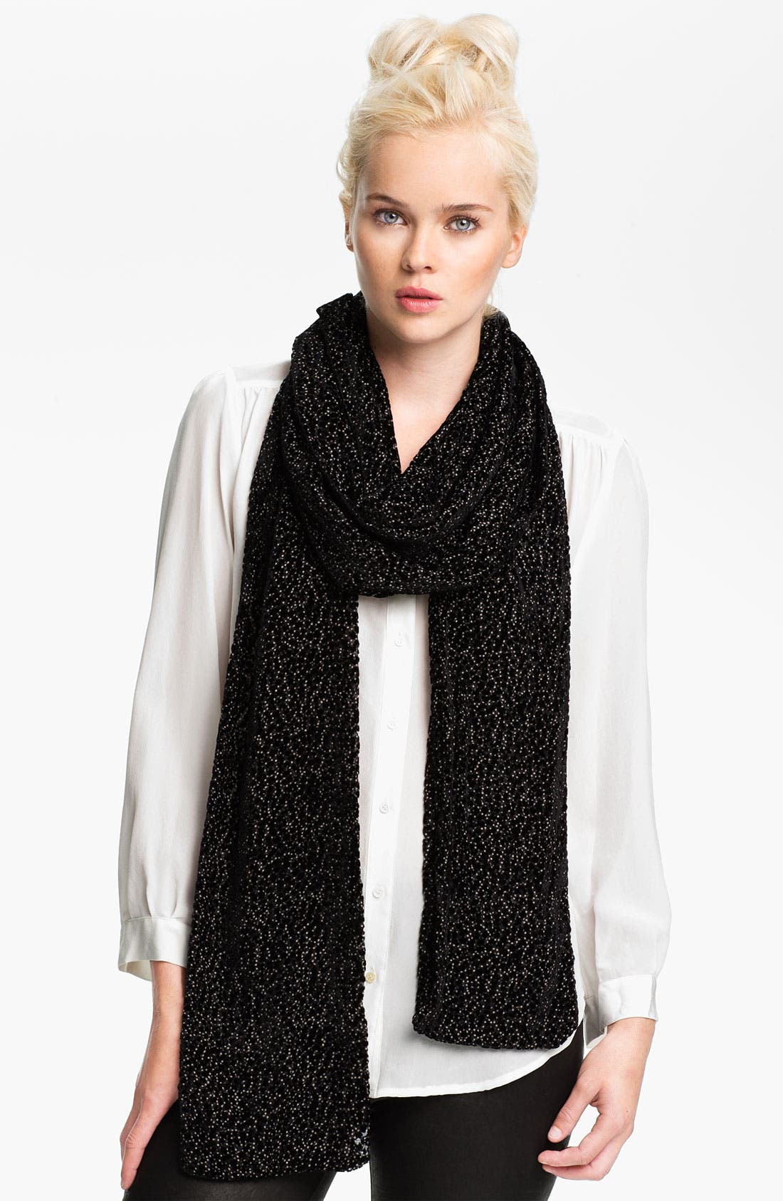 Alternate Image 1 Selected - Rachel Zoe Burnout Dotted Velvet Scarf