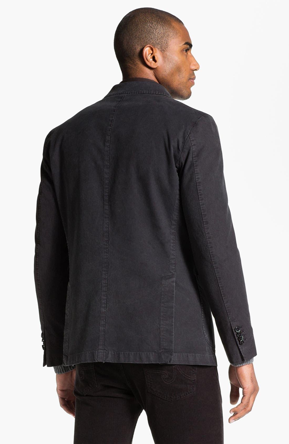 Alternate Image 2  - Lubiam Trim Fit Cotton Sportcoat