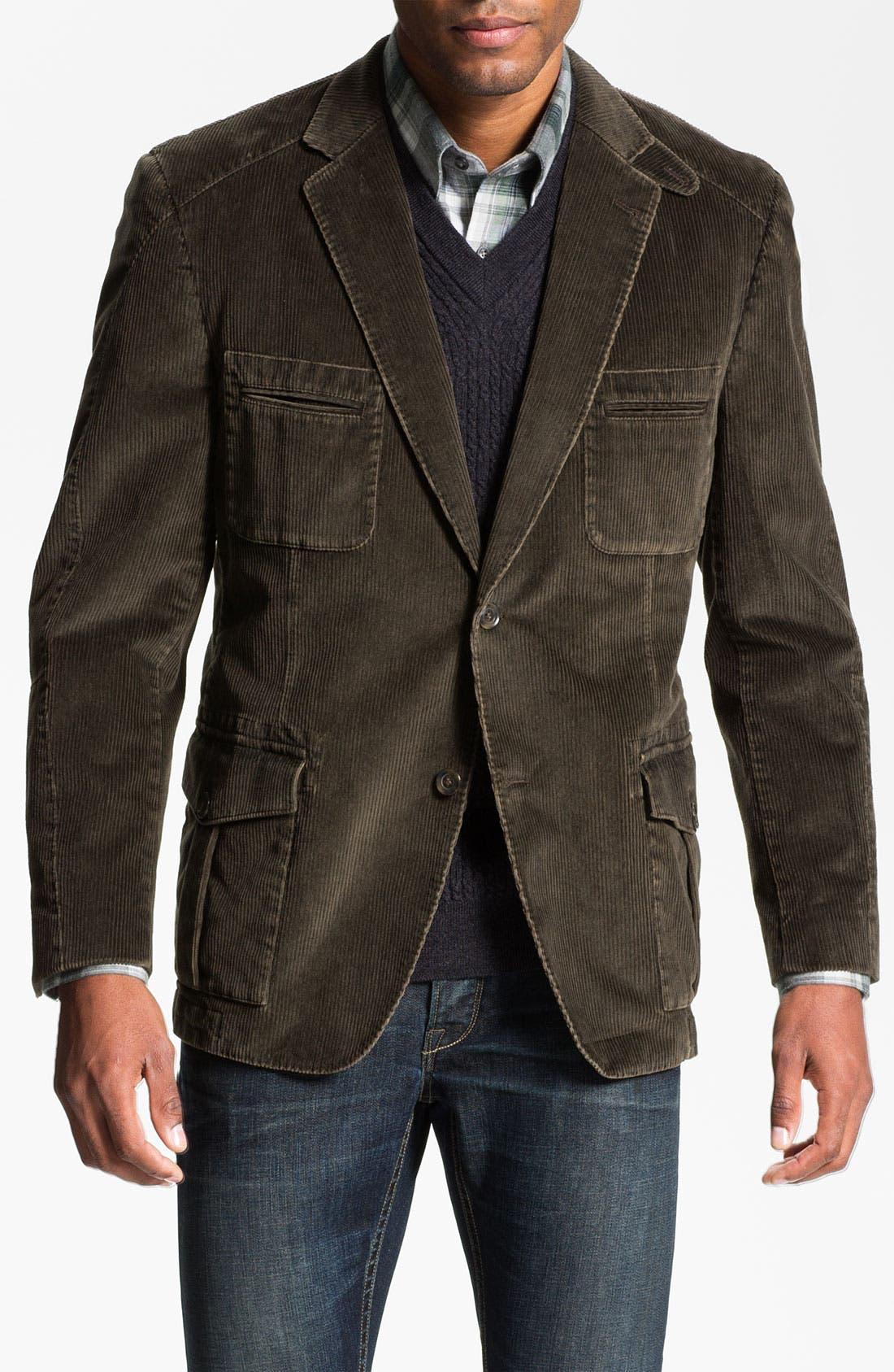 Main Image - Kroon 'Matthews' Washed Corduroy Sportcoat