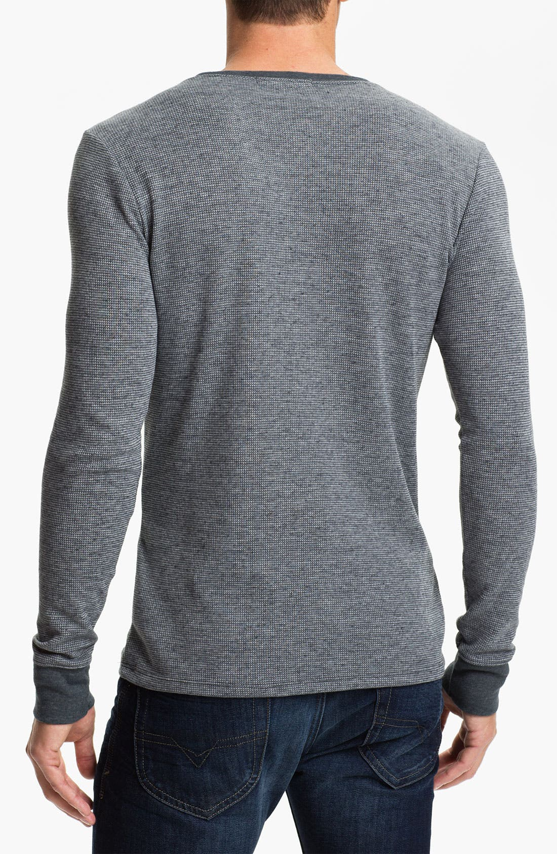 Alternate Image 2  - Threads for Thought Crewneck Thermal Shirt