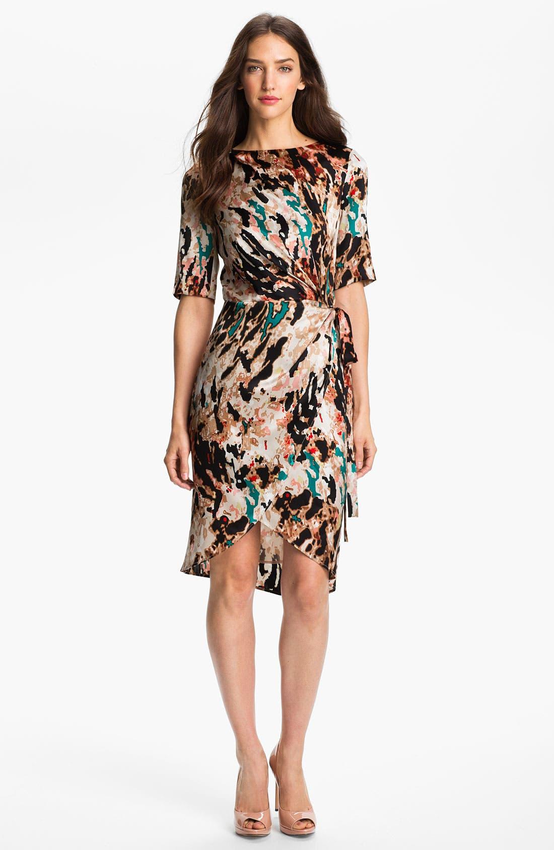 Main Image - Rachel Roy 'Fragmented Landscape' Print Silk Dress