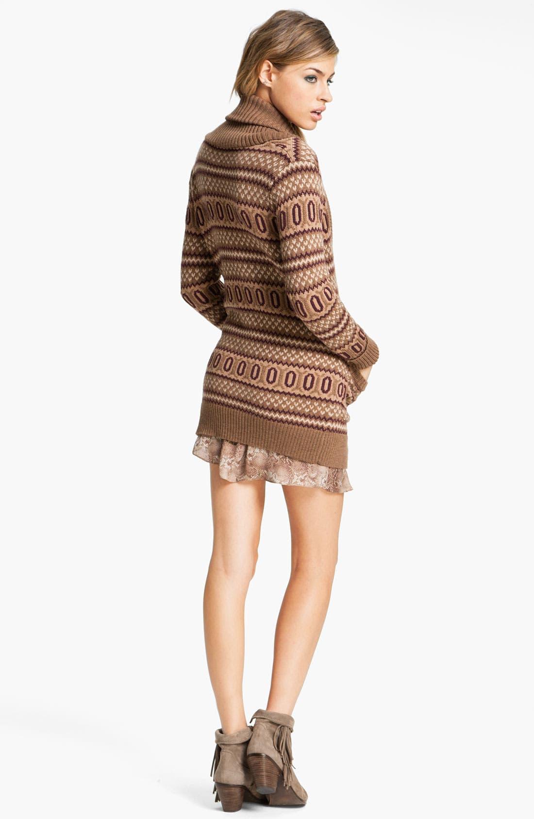 Alternate Image 5  - Haute Hippie Intarsia Merino Wool Cardigan