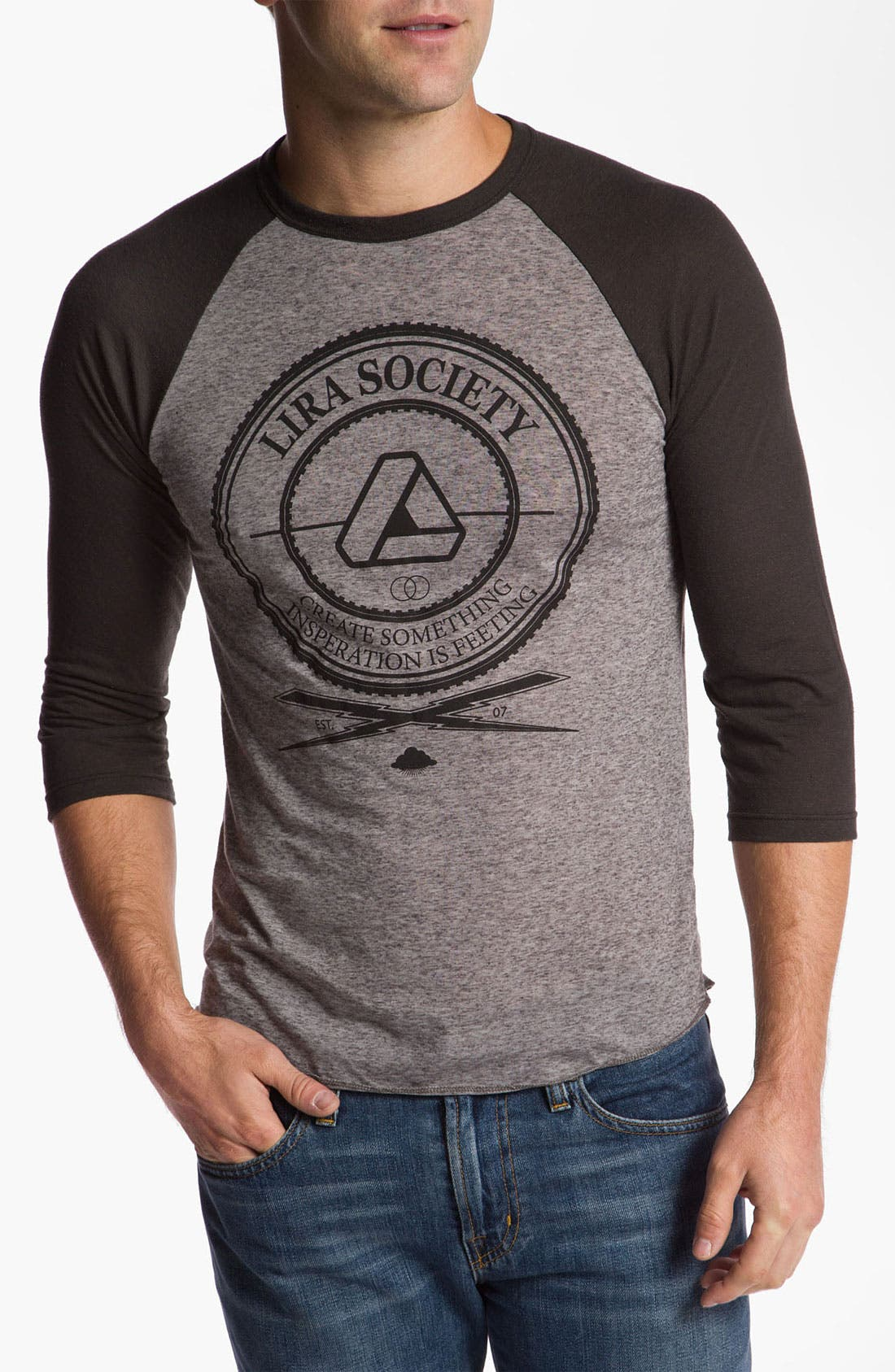 Alternate Image 1 Selected - Lira Clothing Graphic Crewneck T-Shirt