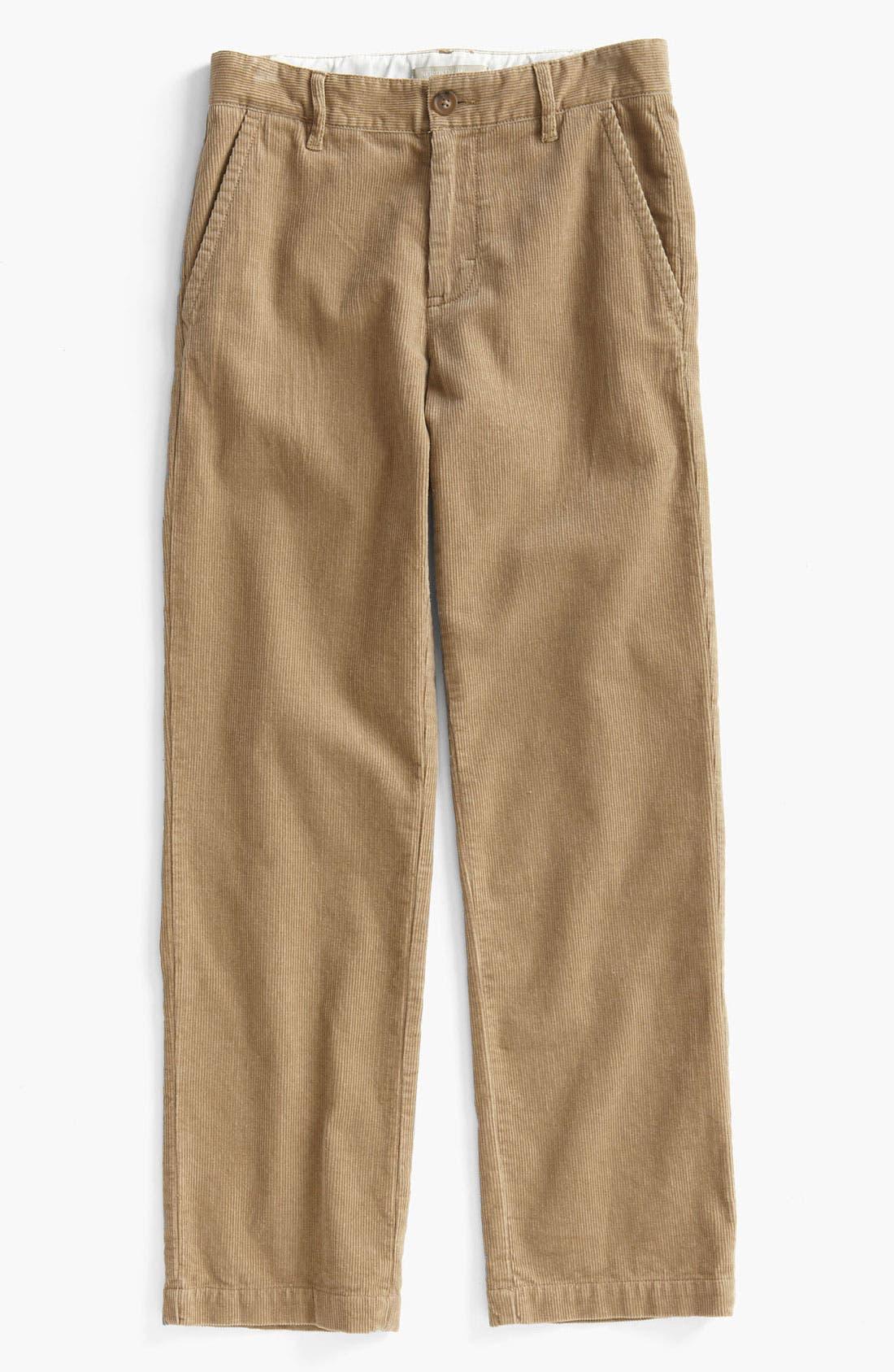Main Image - Nordstrom 'Edward' Corduroy Trousers (Big Boys)