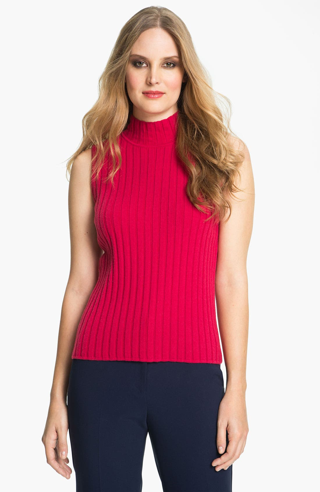Alternate Image 1 Selected - St. John Yellow Label Cashmere Shell