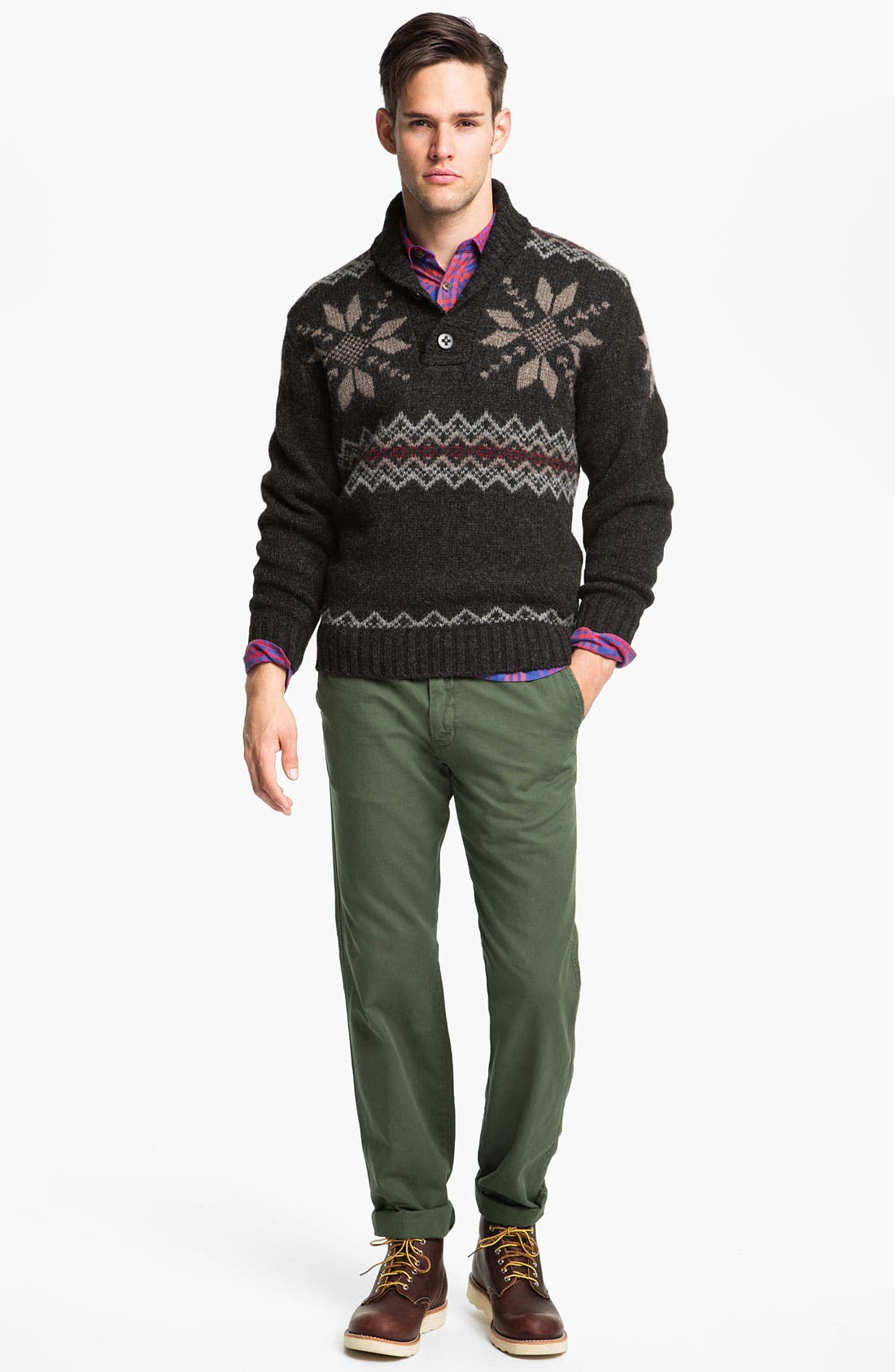 Alternate Image 4  - Pendleton Fair Isle Shawl Collar Shetland Wool Sweater