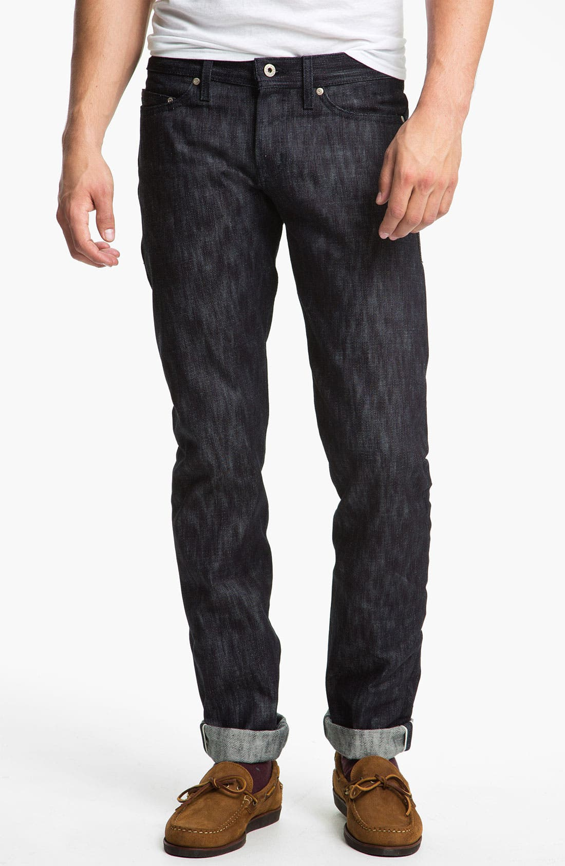 Alternate Image 2  - Naked & Famous Denim 'Weird Guy' Slim Tapered Leg Selvedge Jeans (Slubbed Indigo)