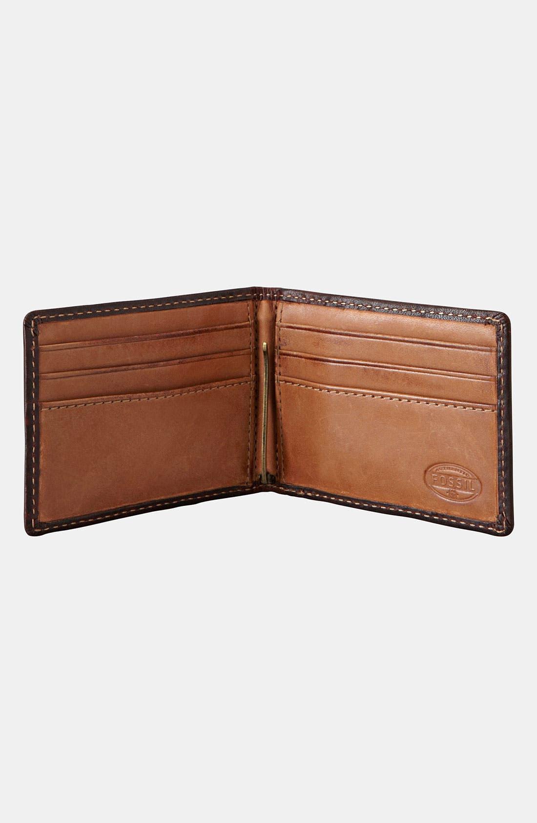 Alternate Image 2  - Fossil 'Gusset' Money Clip Wallet