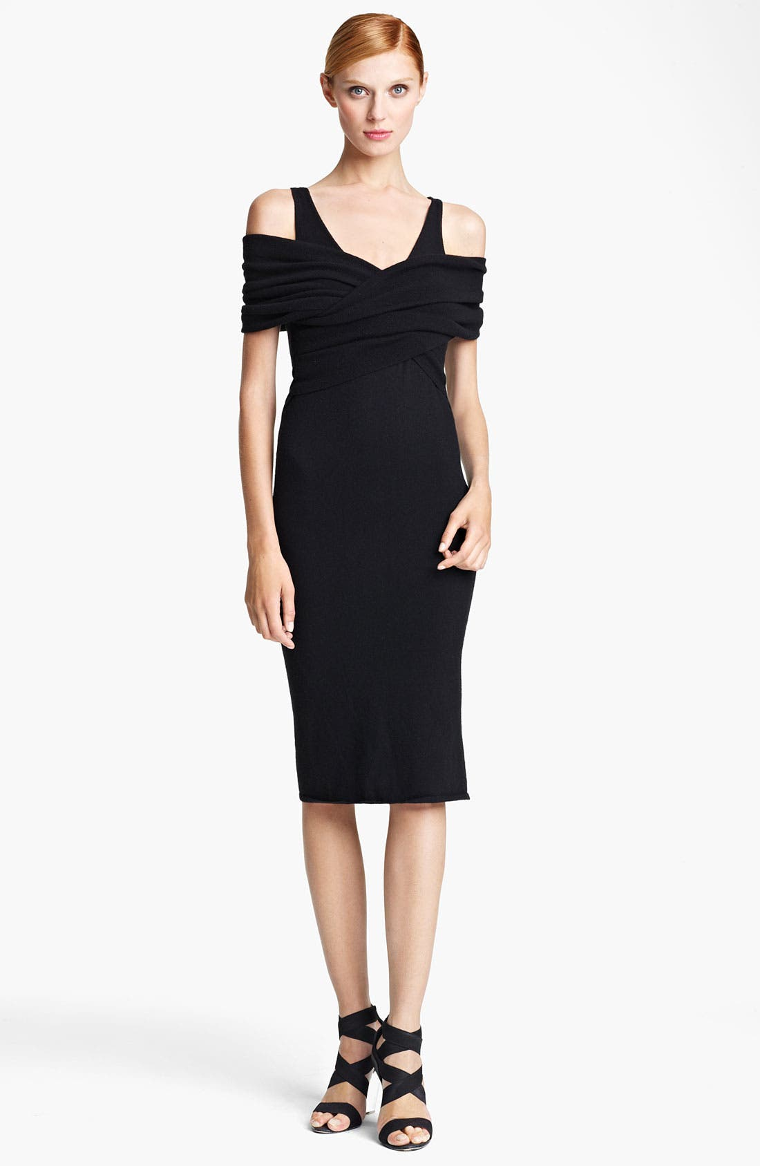 Main Image - Donna Karan Collection 'First Layer' Cold Shoulder Dress