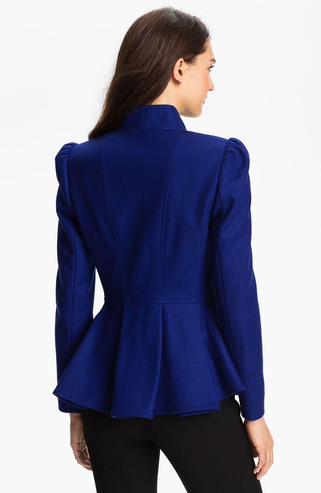 Alternate Image 2  - Ted Baker London Peplum Wool Jacket