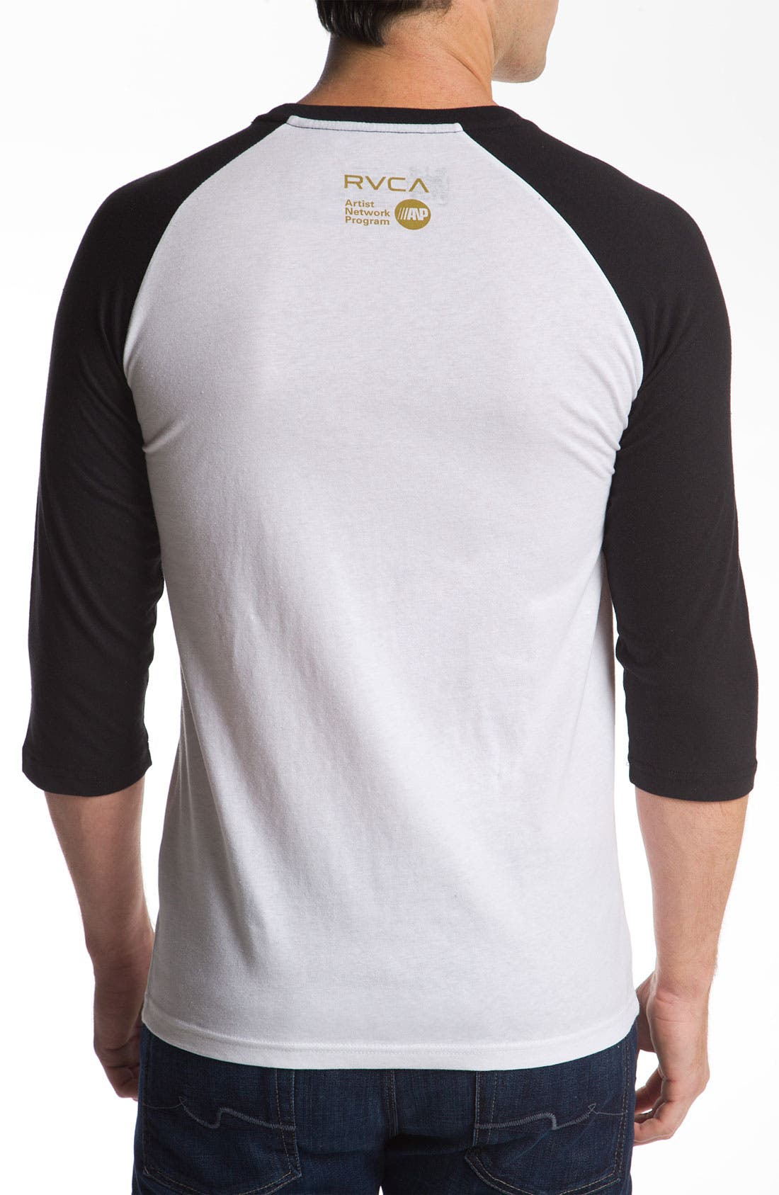 Alternate Image 2  - RVCA 'Deer Hand' Raglan T-Shirt